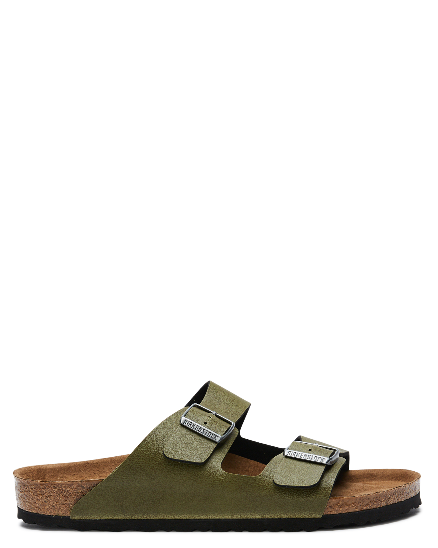 Birkenstock Mens Arizona Regular Vegan Sandal Olive Olive