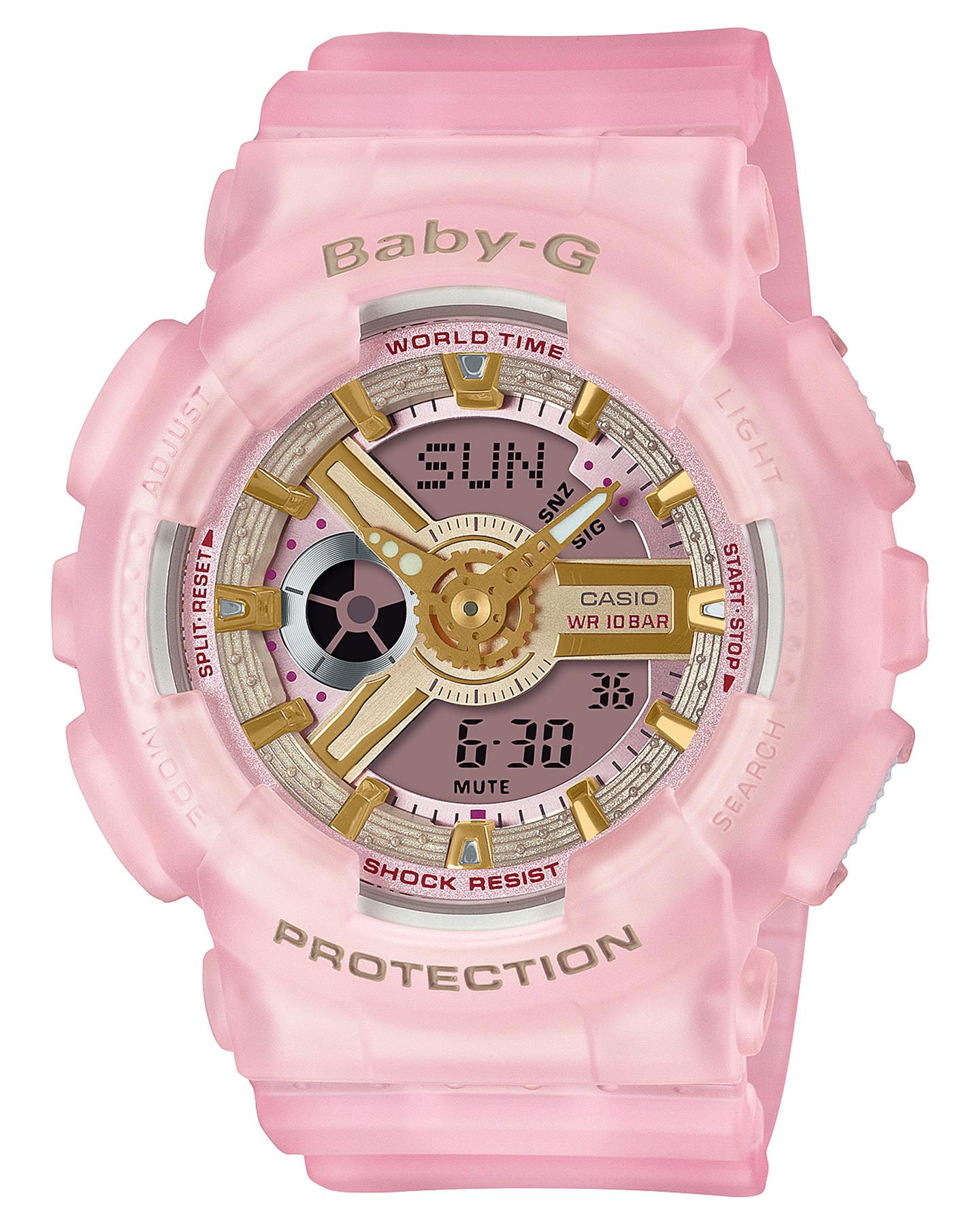 Baby G Ba110 Sea Glass Series Watch Pink