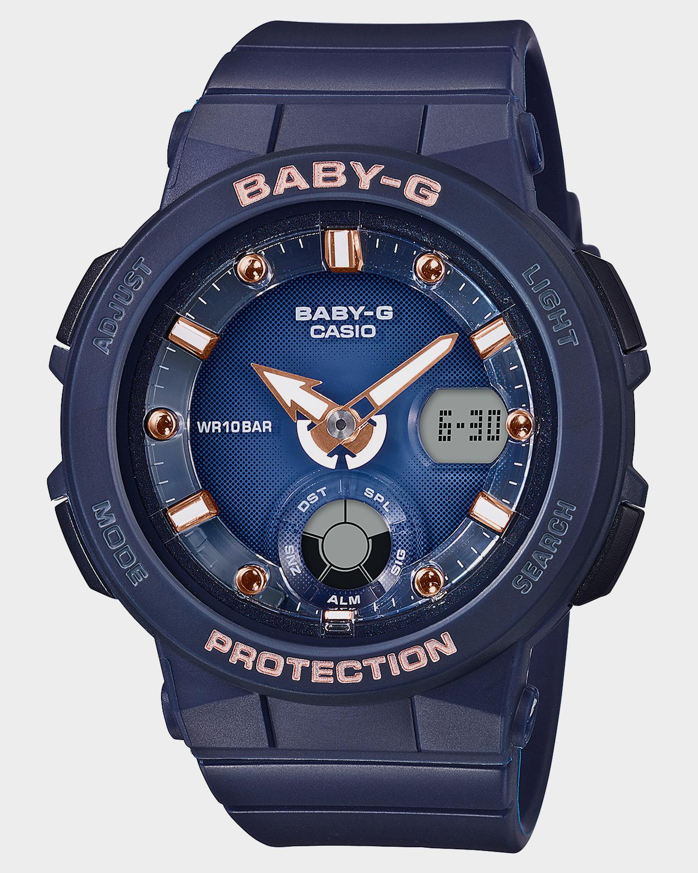 Baby G Bga250 Beach Traveller Series Watch Navy Navy