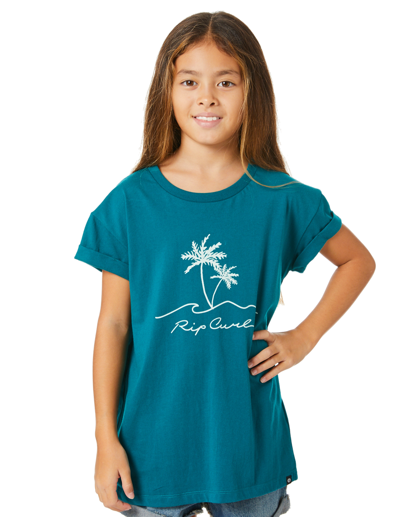 Rip Curl Girls Sway Palm Tee - Teen Jade Jade