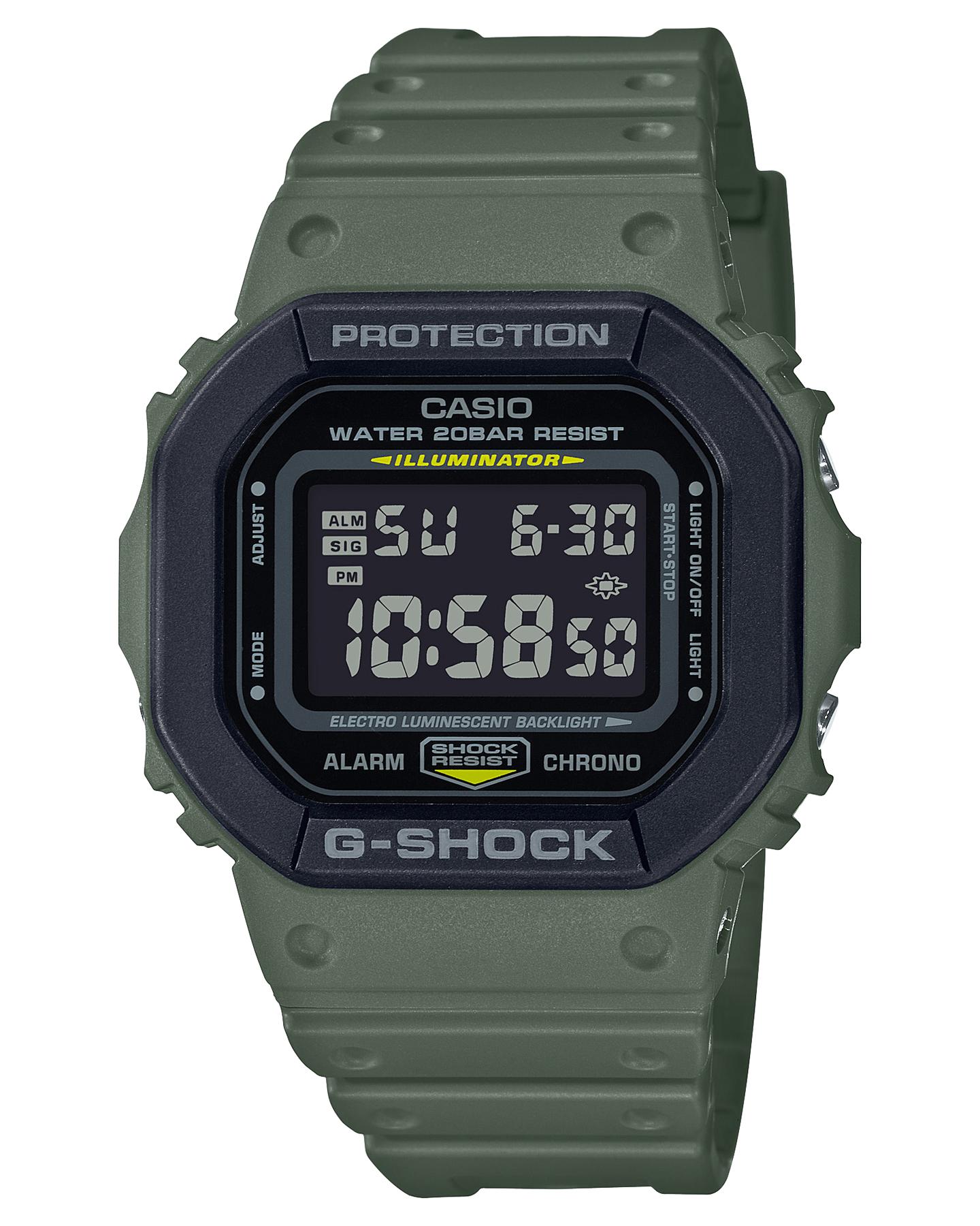 G Shock De-5600 Utility Color Watch Khaki Black Khaki Black