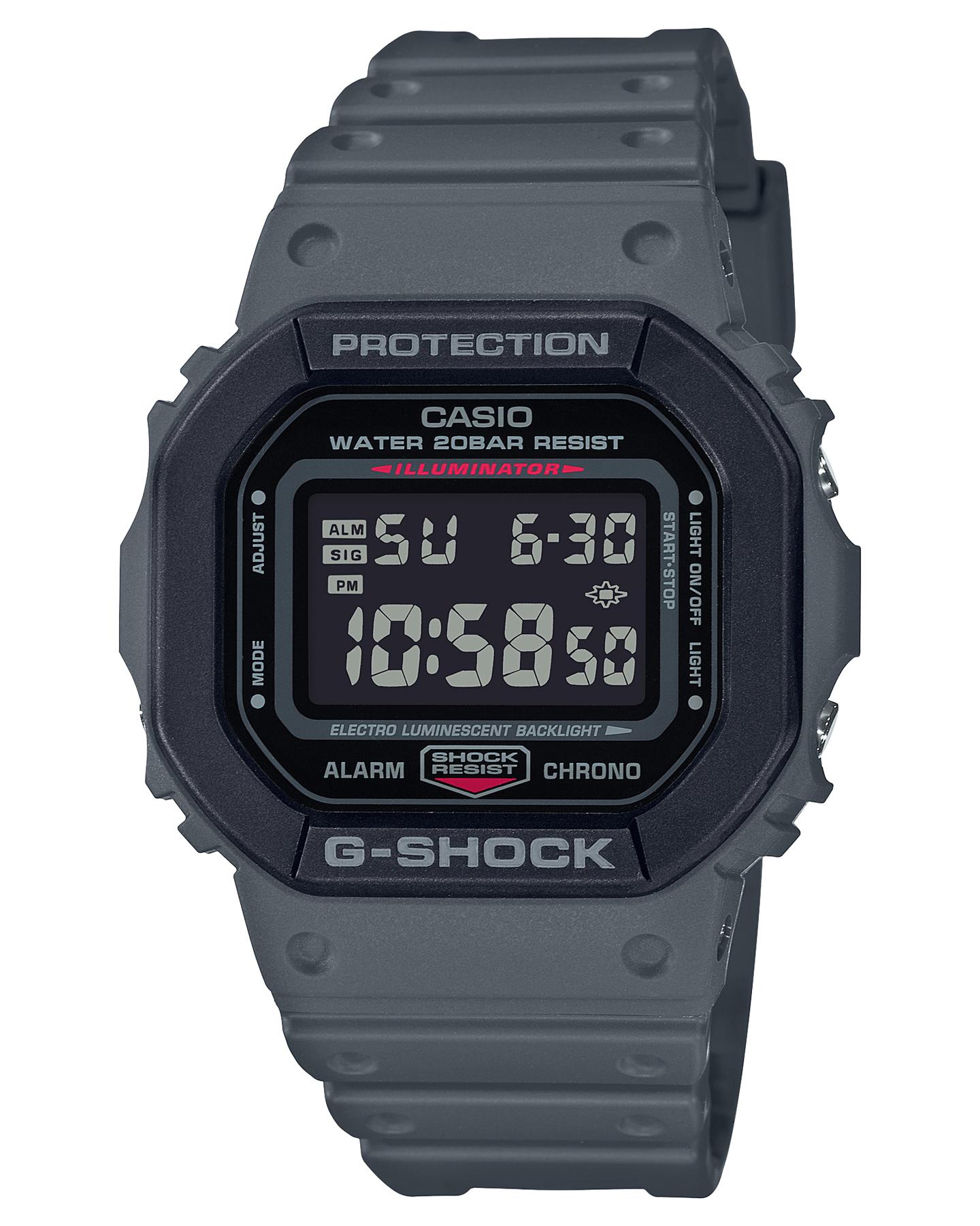 G Shock De-5600 Utility Color Watch Charcoal Black Charcoal Black