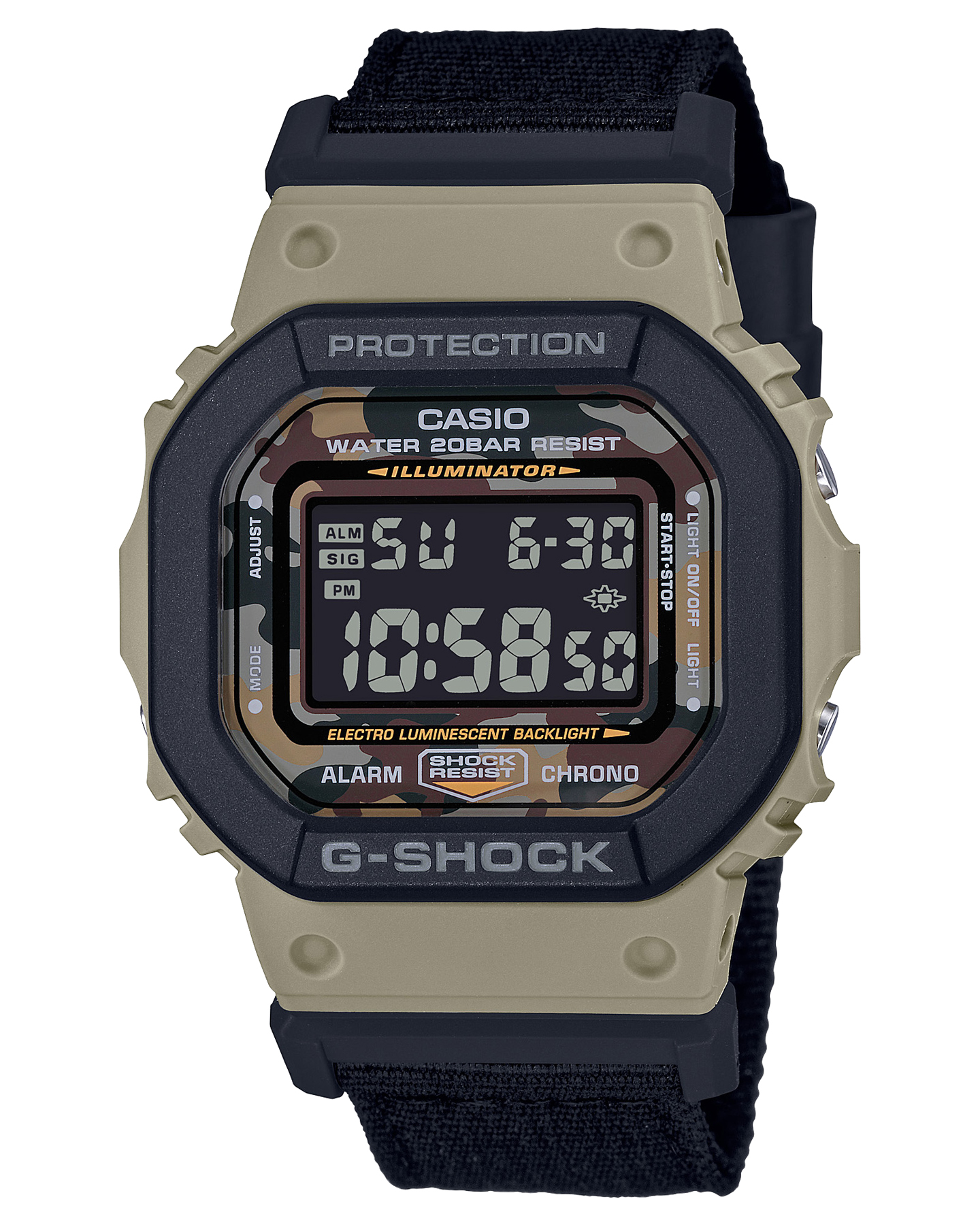 G Shock De-5600 Utility Color Watch Black Gold