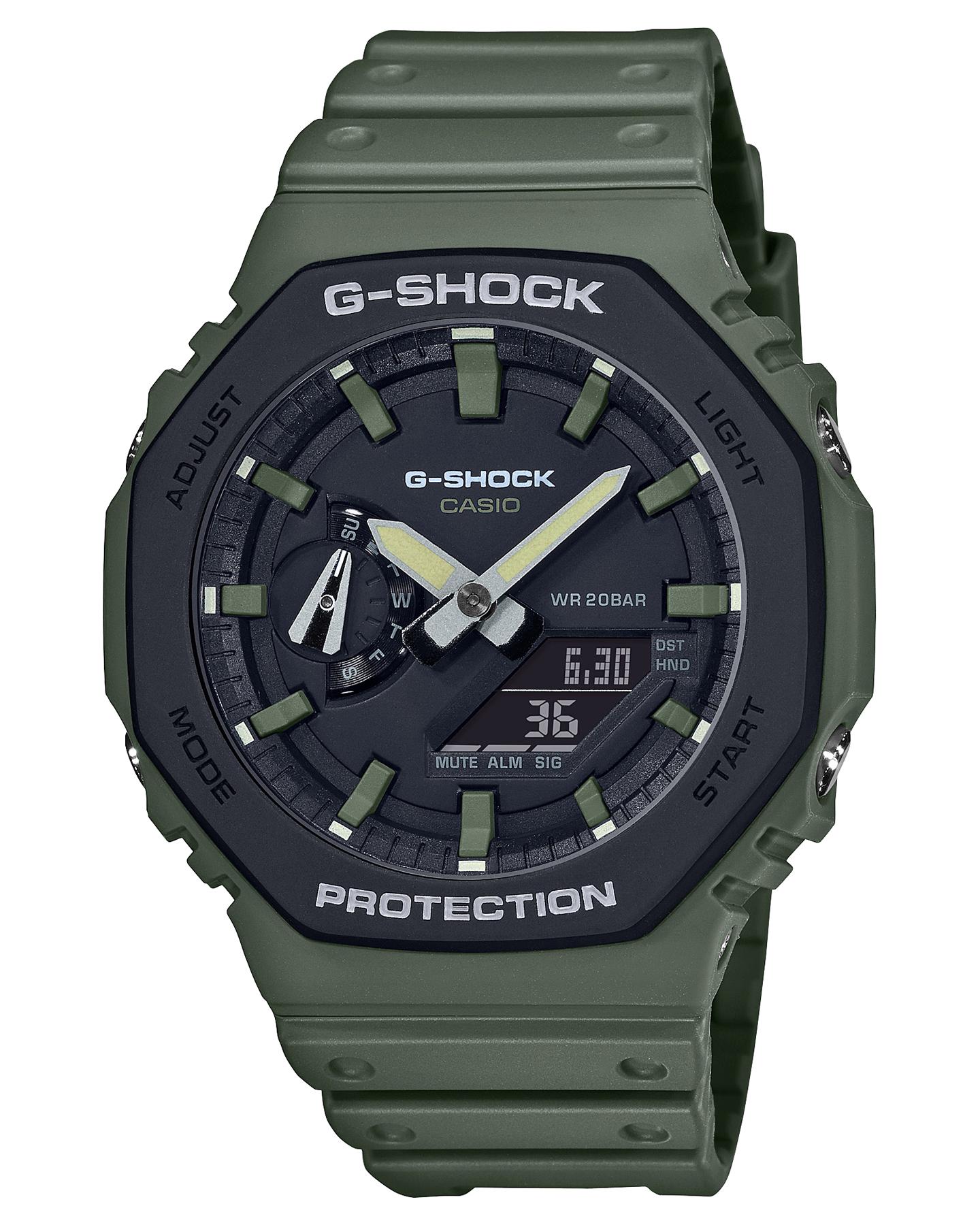 G Shock Ga-2100 Utility Color Watch Khaki Black Khaki Black