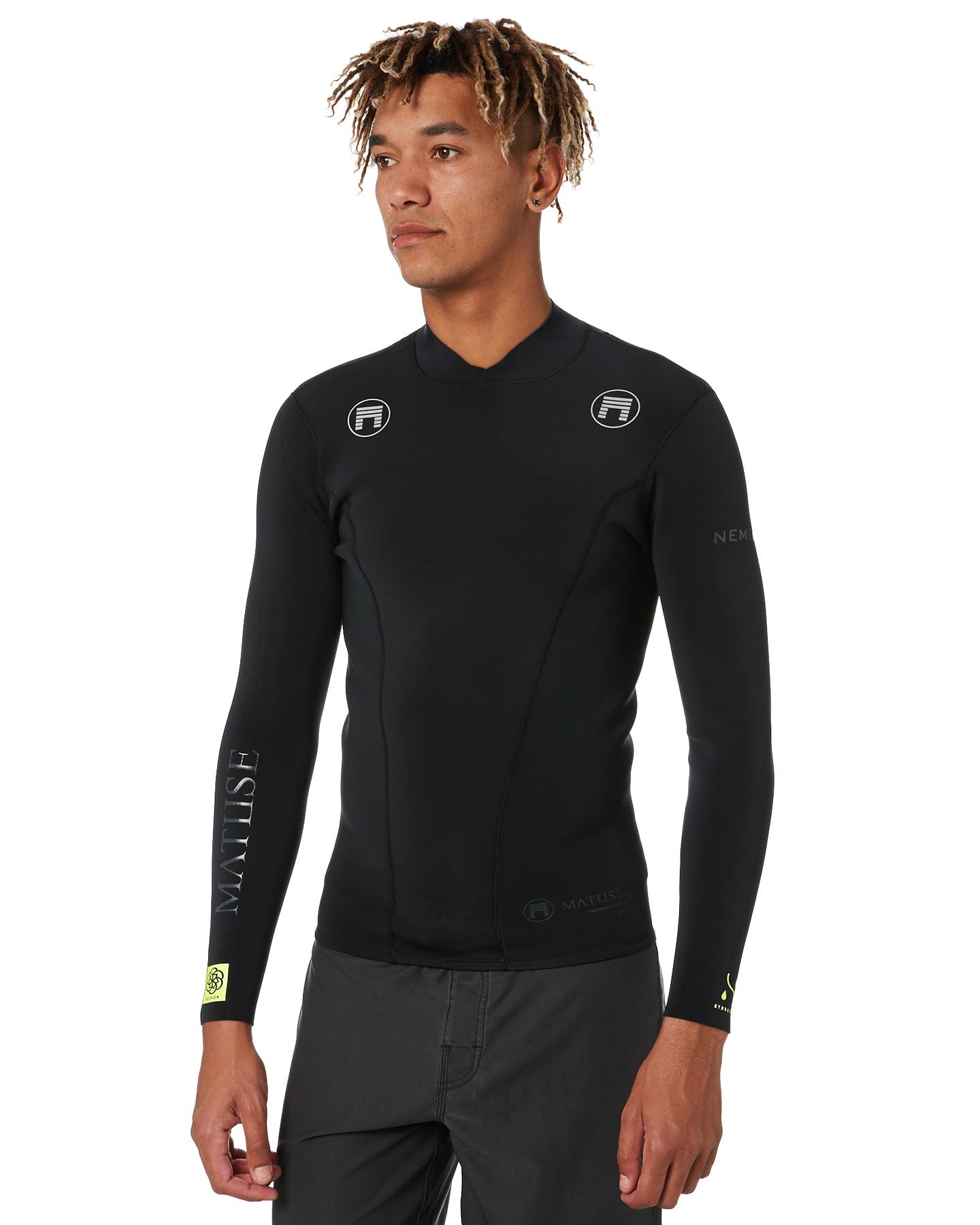 Matuse Nemean Hydrasilk 2Mm Ls Wetsuit Vest Black