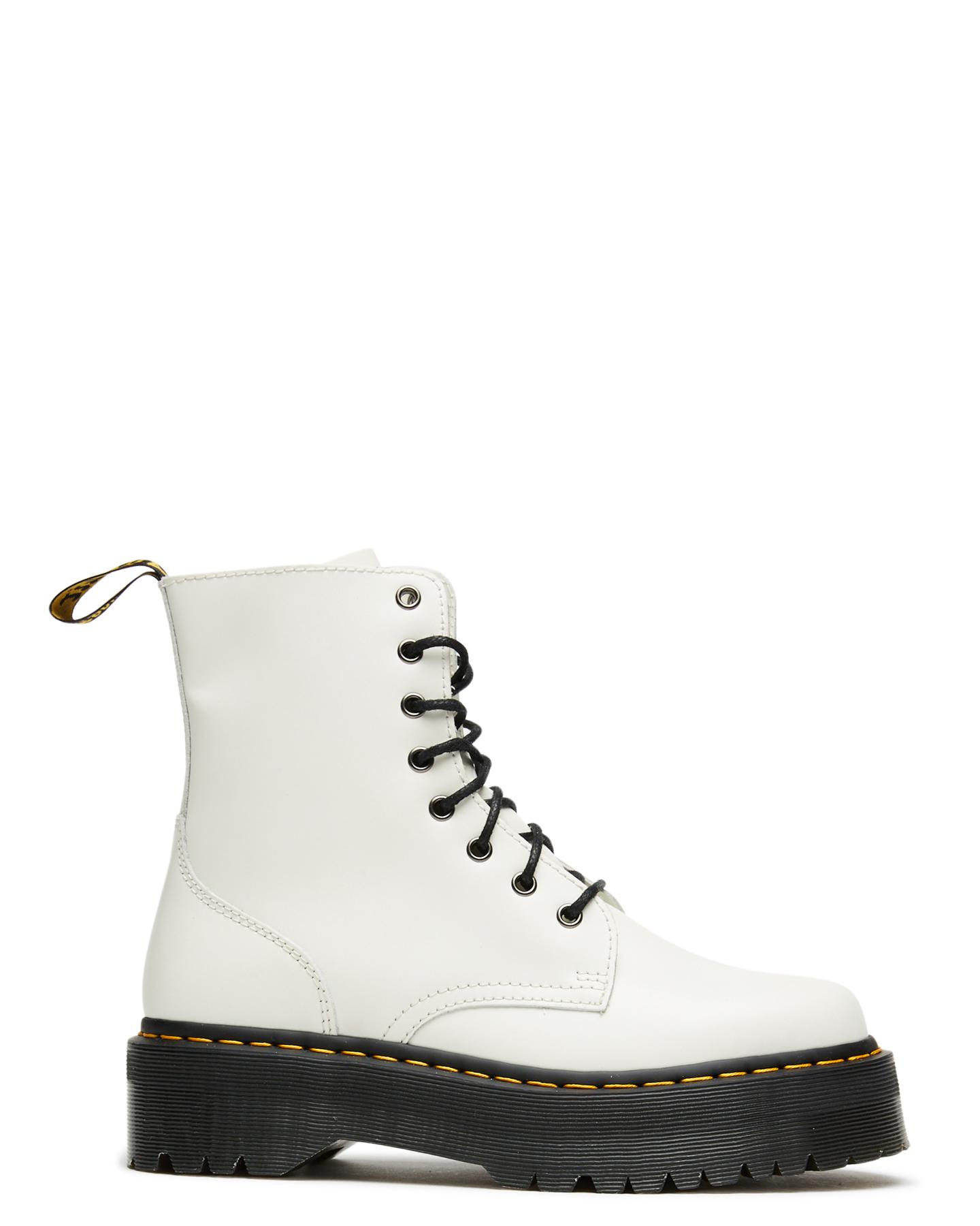Dr. Martens Womens Jadon 8 Zip Boot White