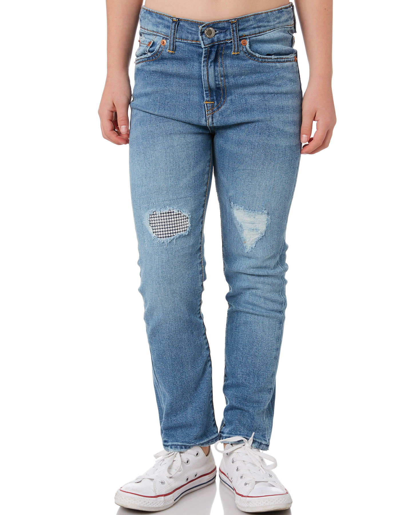 Levi'S Girls High Rise Ankle Straight - Teen Pyramids Pyramids
