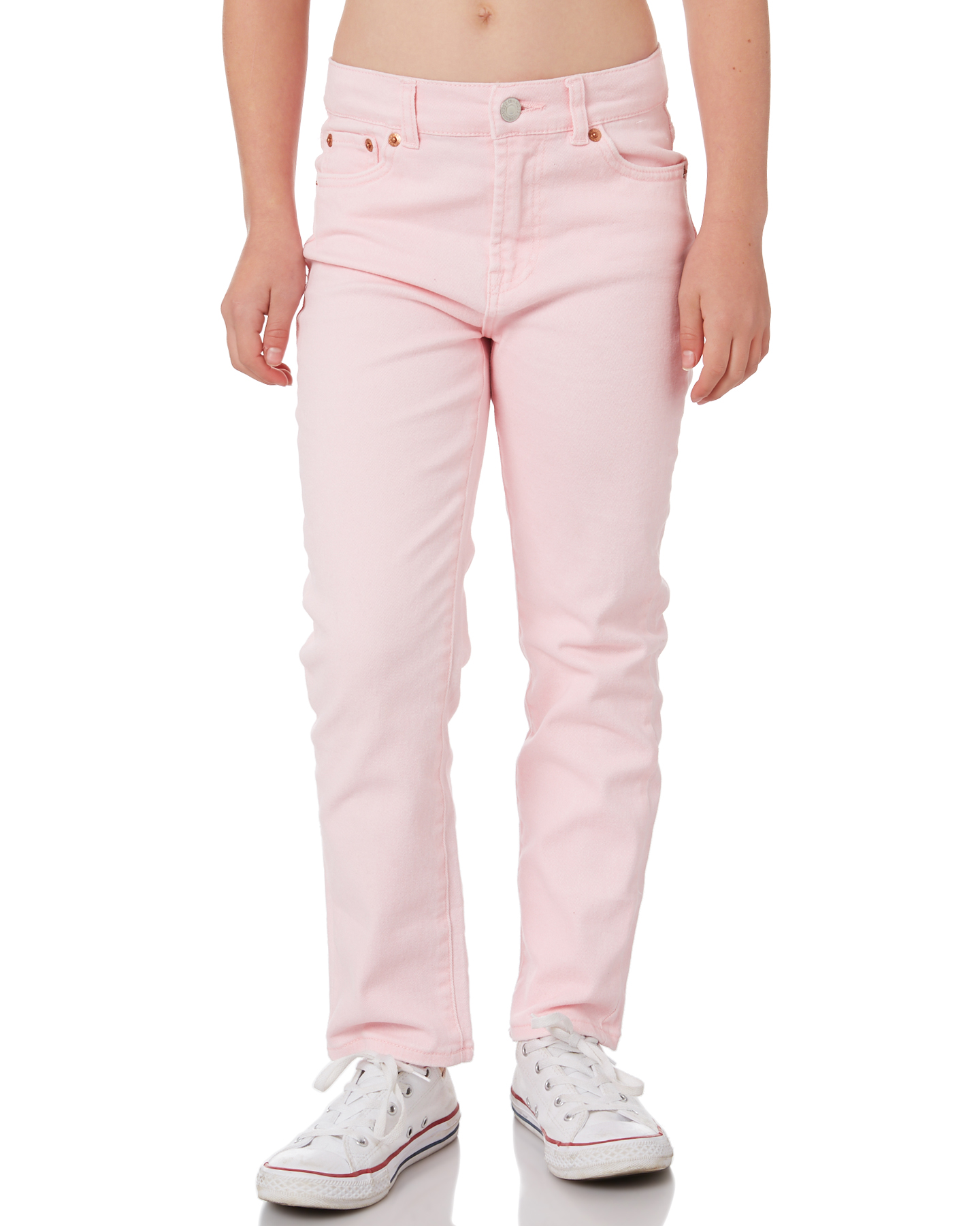 Levi'S Girls High Rise Ankle Straight - Teen Rose Shadow Rose Shadow