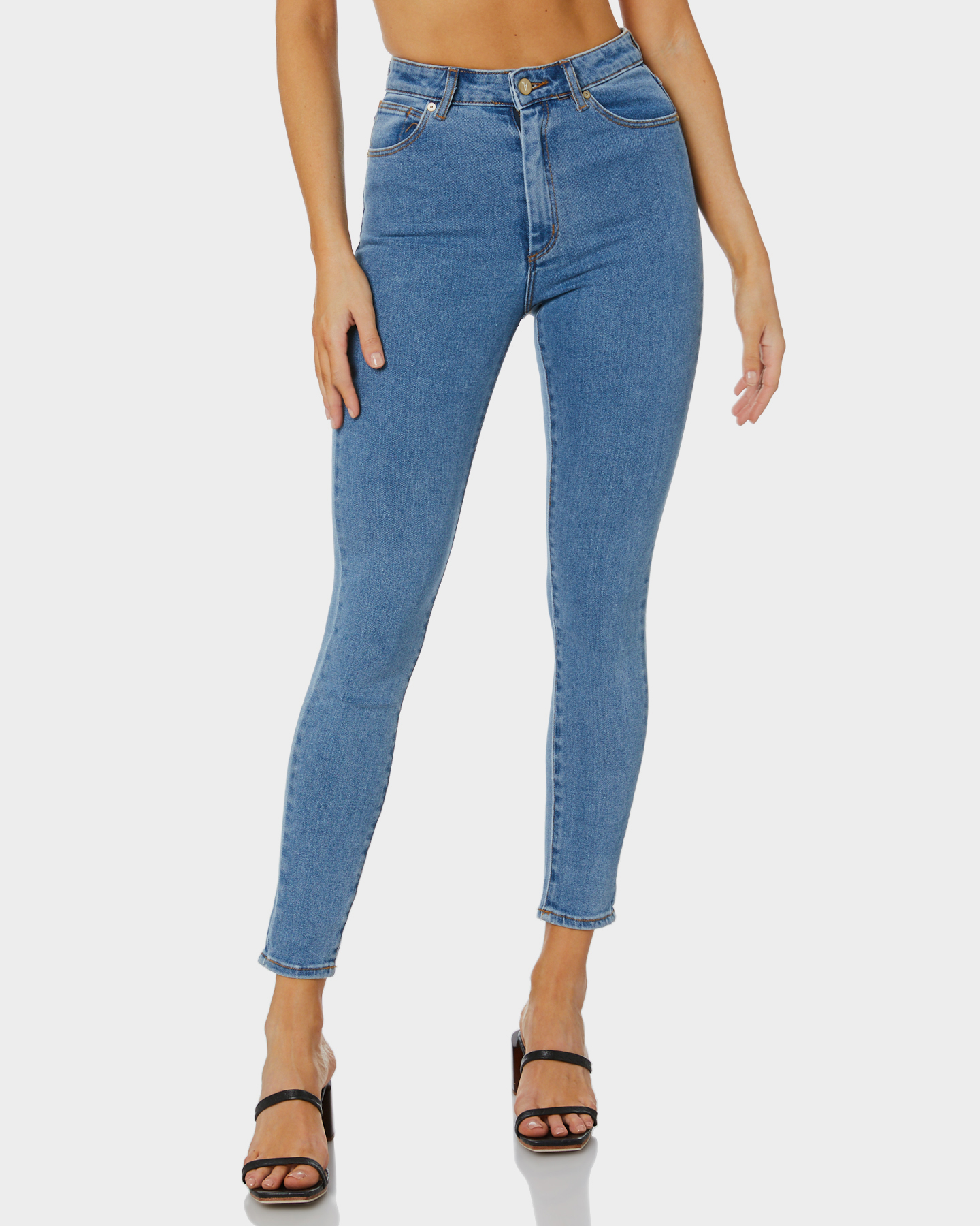 Abrand Womens A High Skinny Ankle Basher La Blues