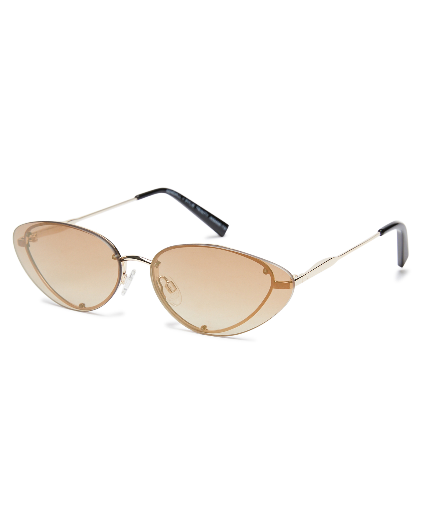 Kendall And Kylie Trinity Sunglasses Shiny Light Gold