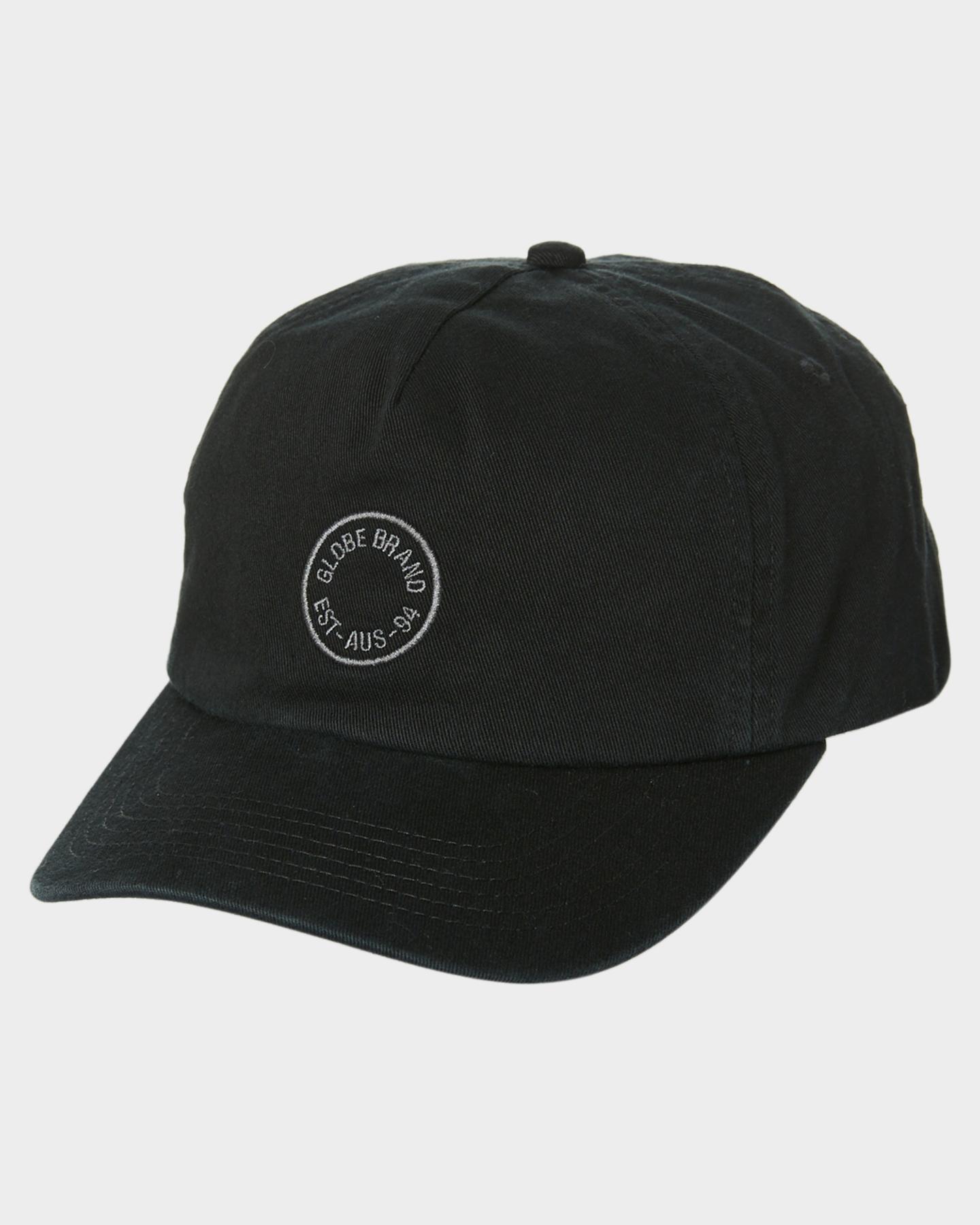 Globe Full Circle Cap Washed Black