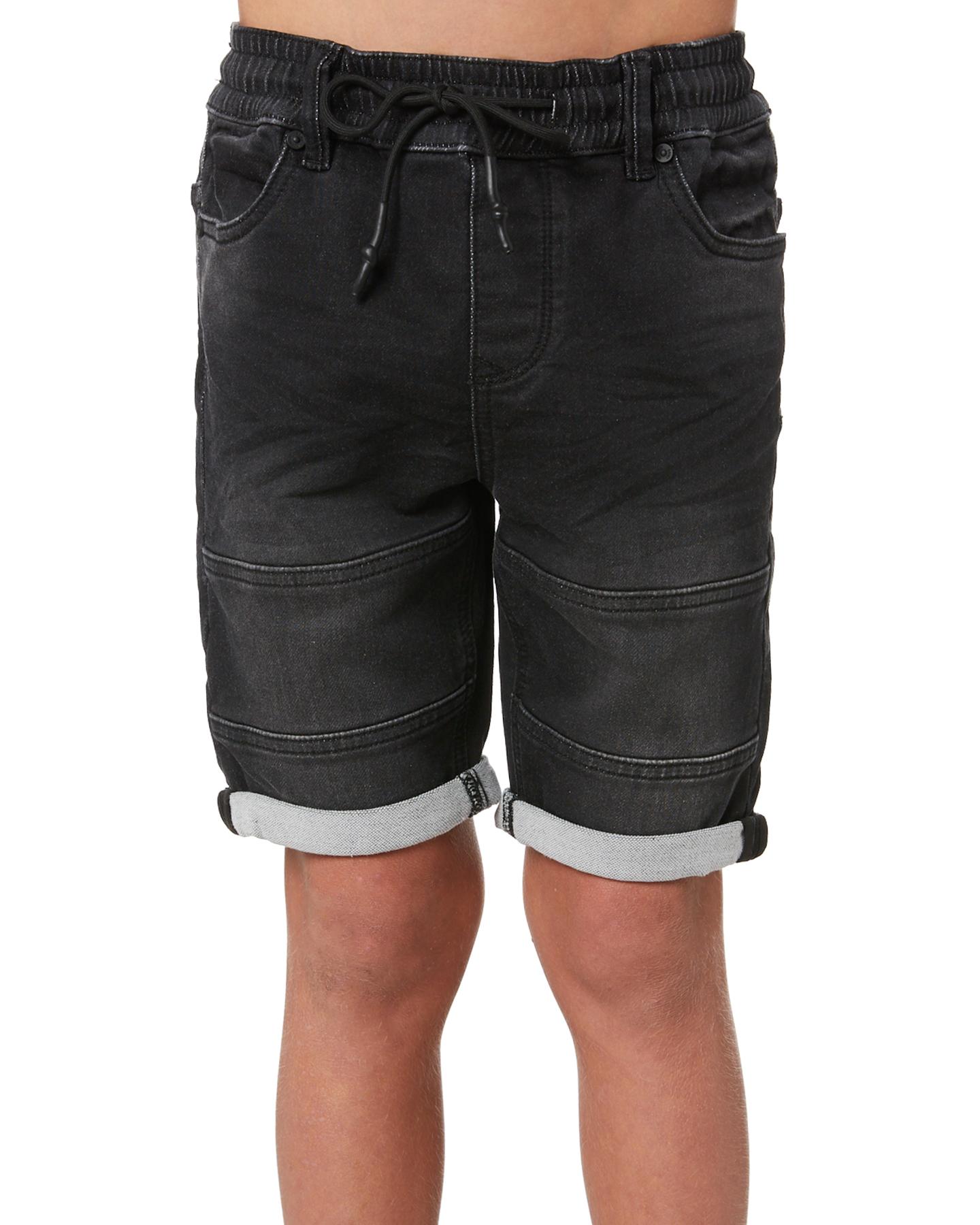 St Goliath Boys Sands Short - Teens Washed Black