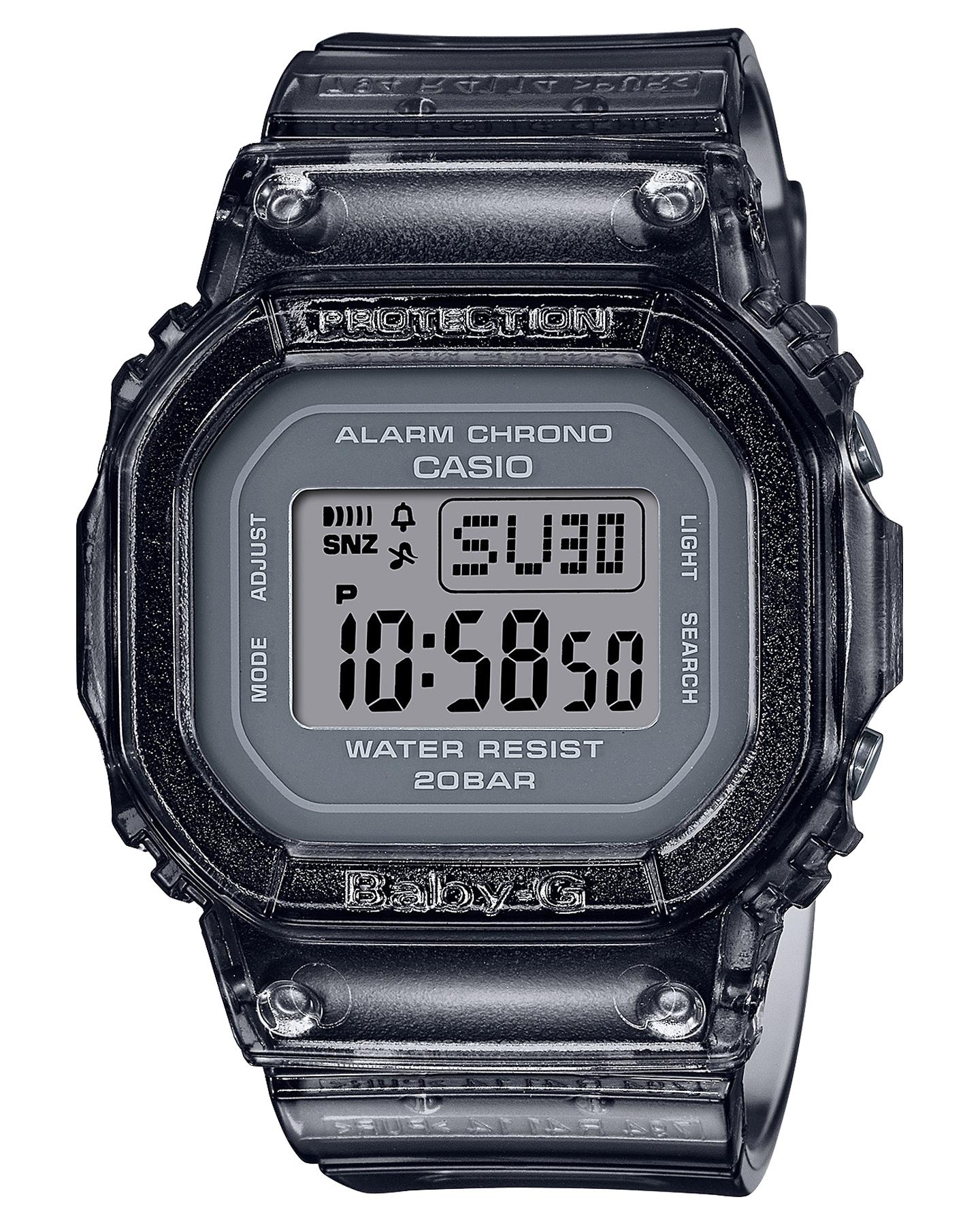 Baby G Bgd560S Semi-Transparent Colour Series Watch Black
