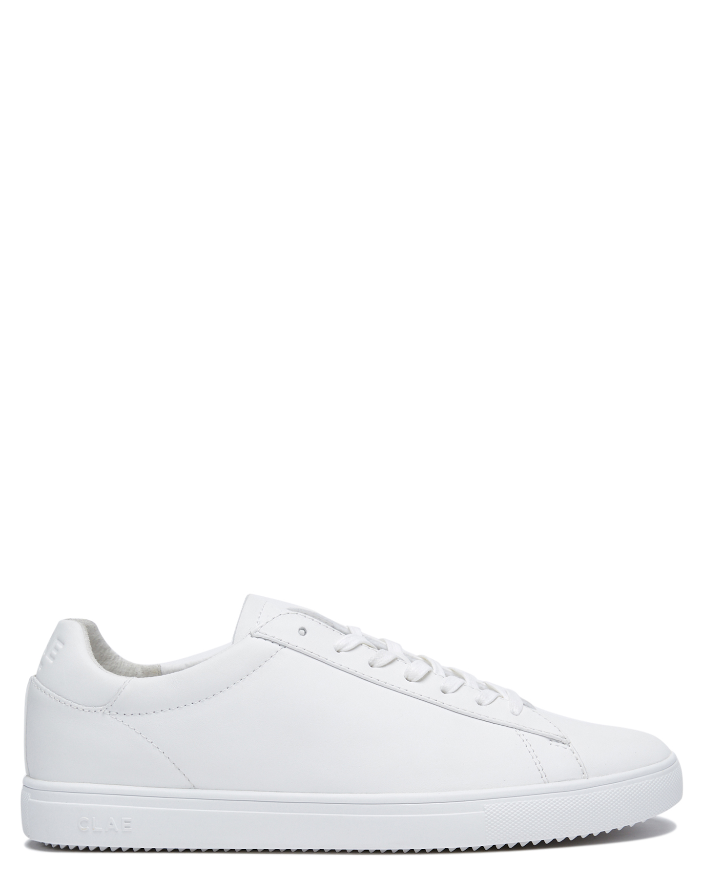 Clae Bradley Mens Shoe Triple White Leather