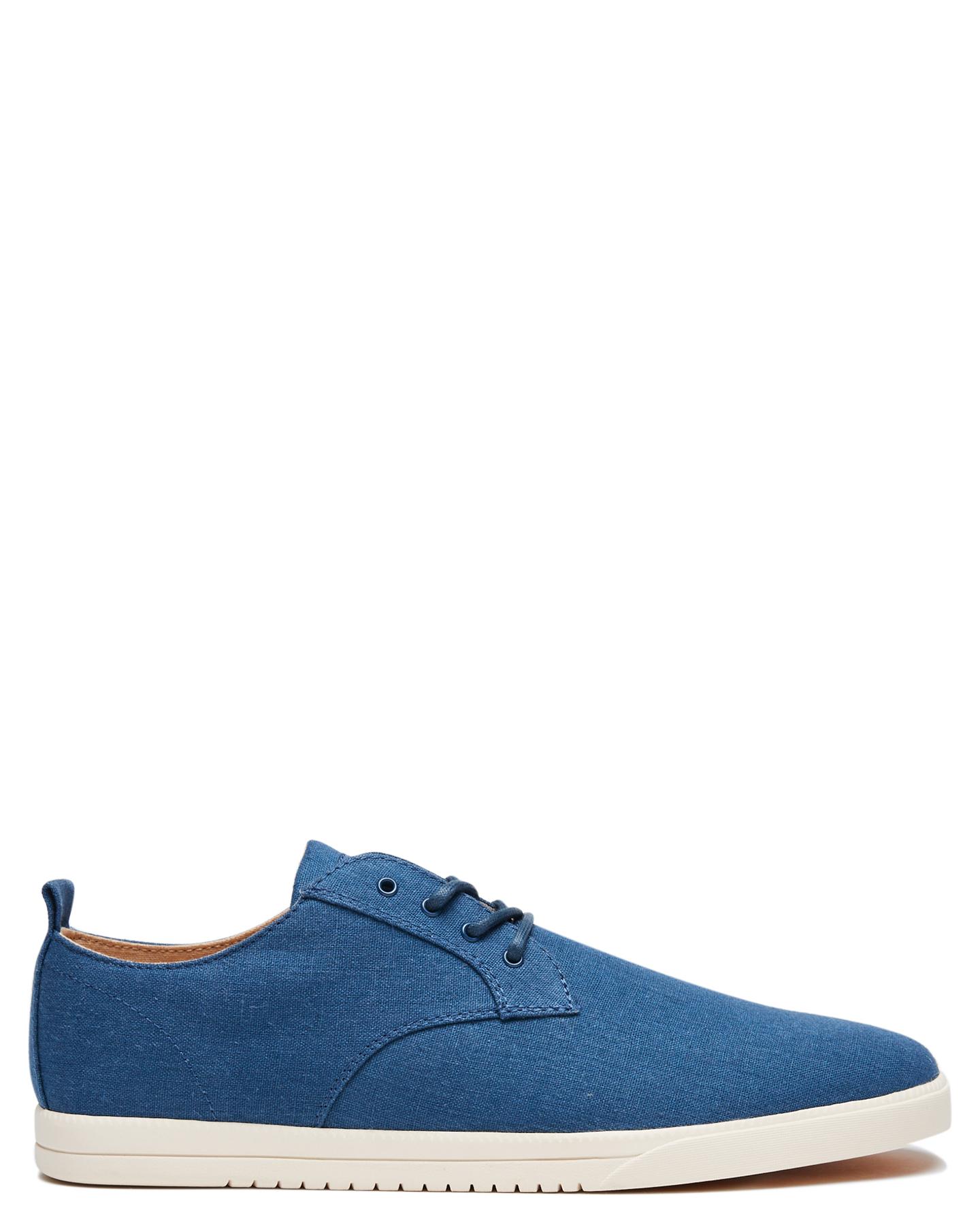 Clae Ellington Textile Mens Shoe Ensign Blue Hemp
