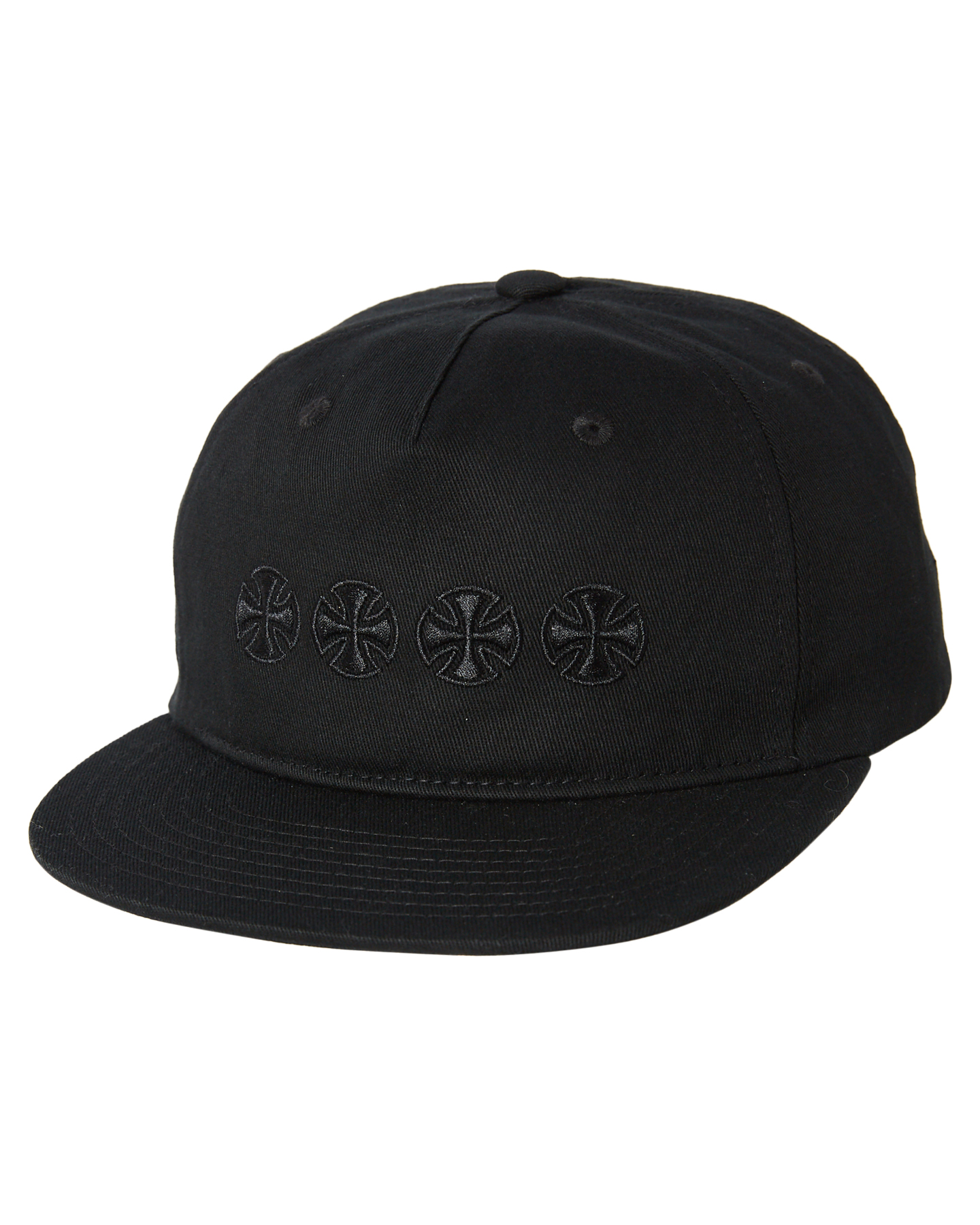 Independent Chain Cross Mens Snapback Black