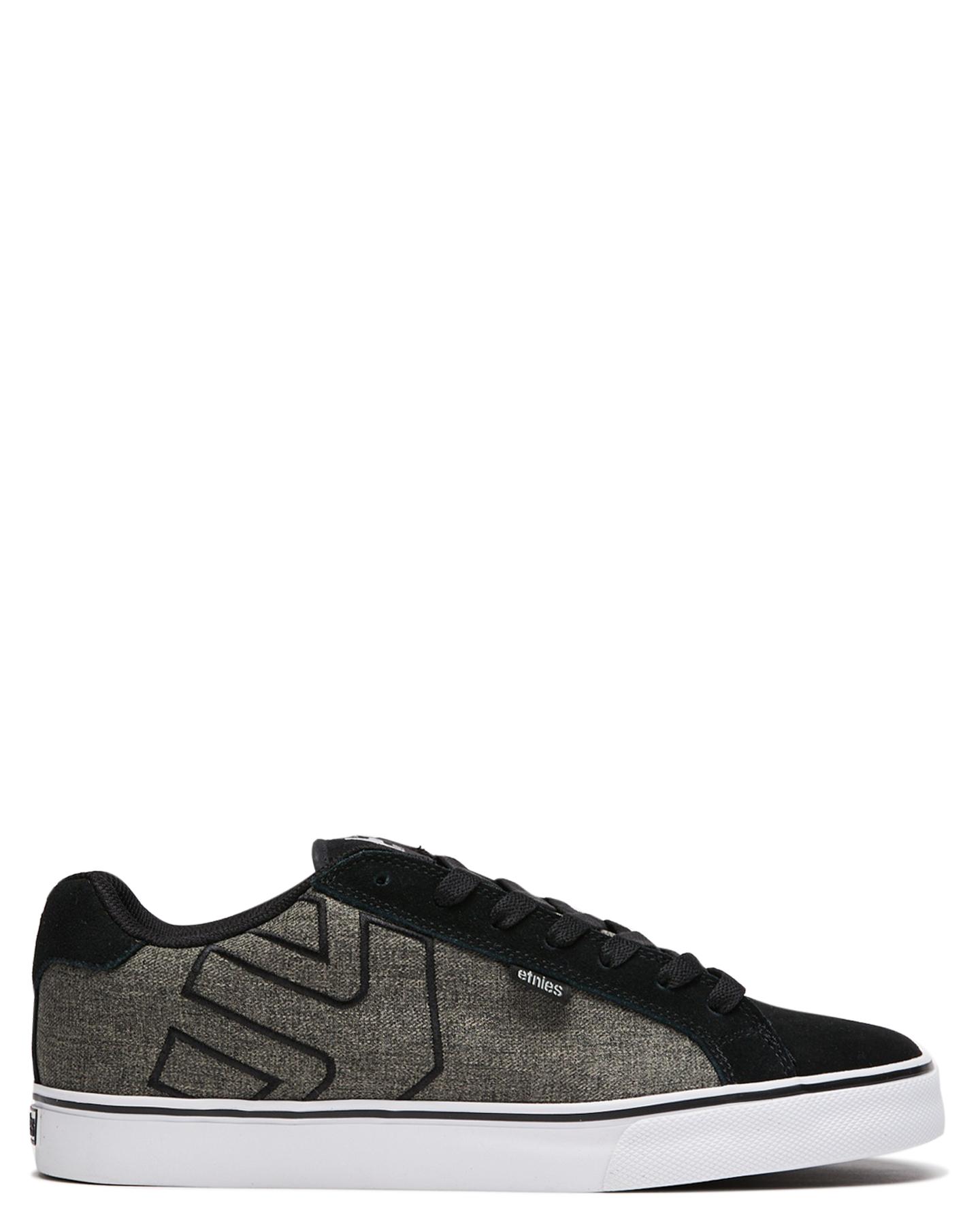 Etnies Mens Fader Vulc Shoe Black Grey Grey