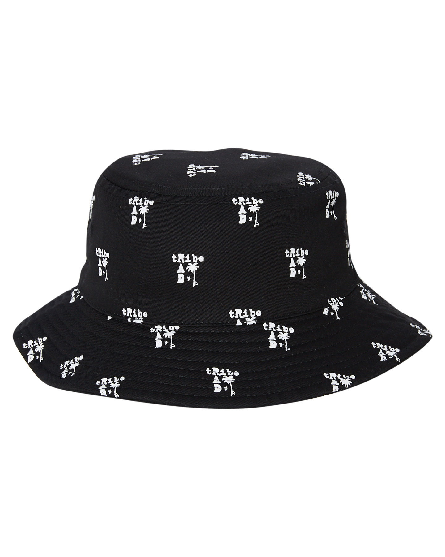 Radicool Dude Rad Tribe Reversible Bucket Hat Black Logo