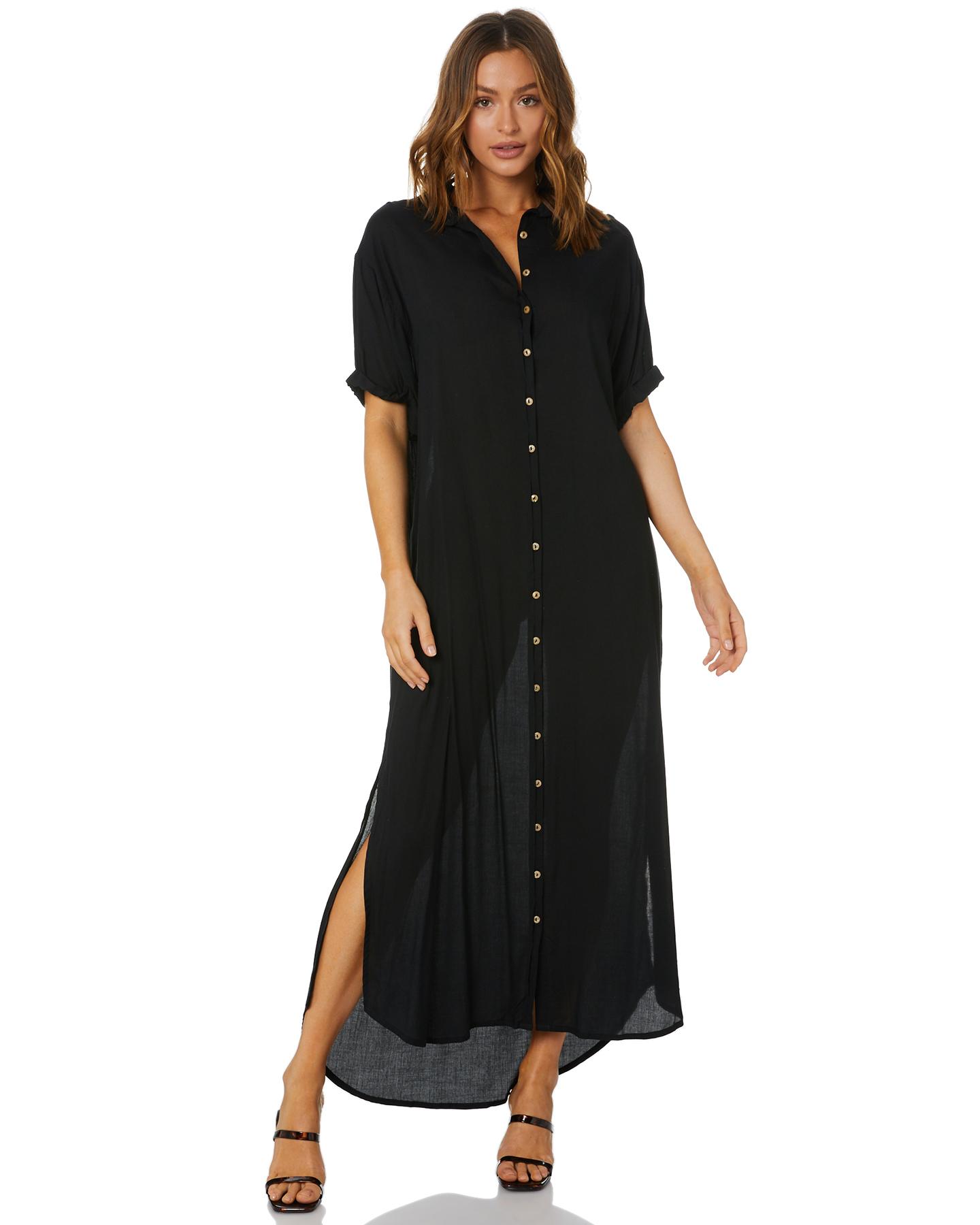 Lilya Hutton Midi Dress Black
