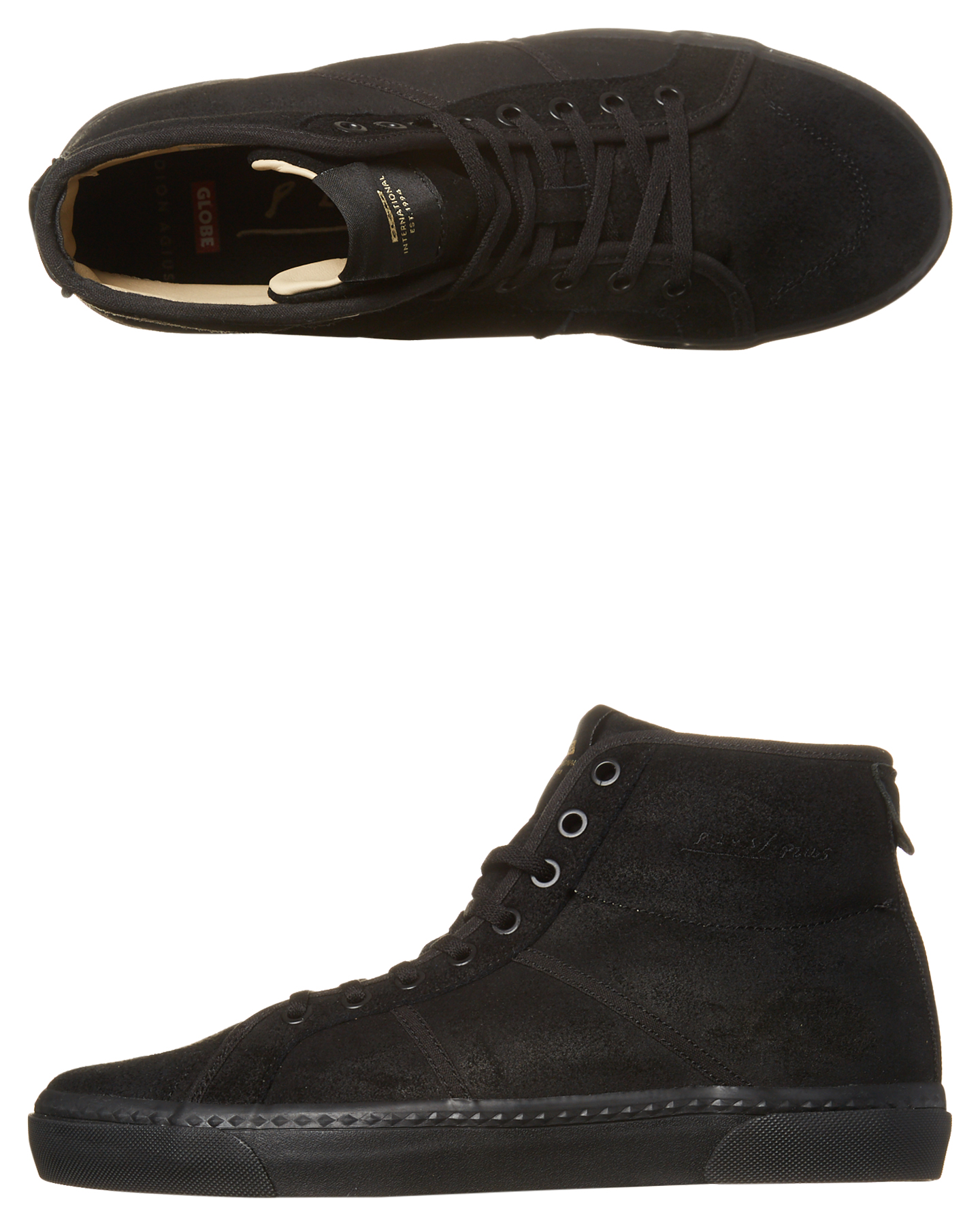 Globe Los Angered Ii Hi Suede Shoe Black