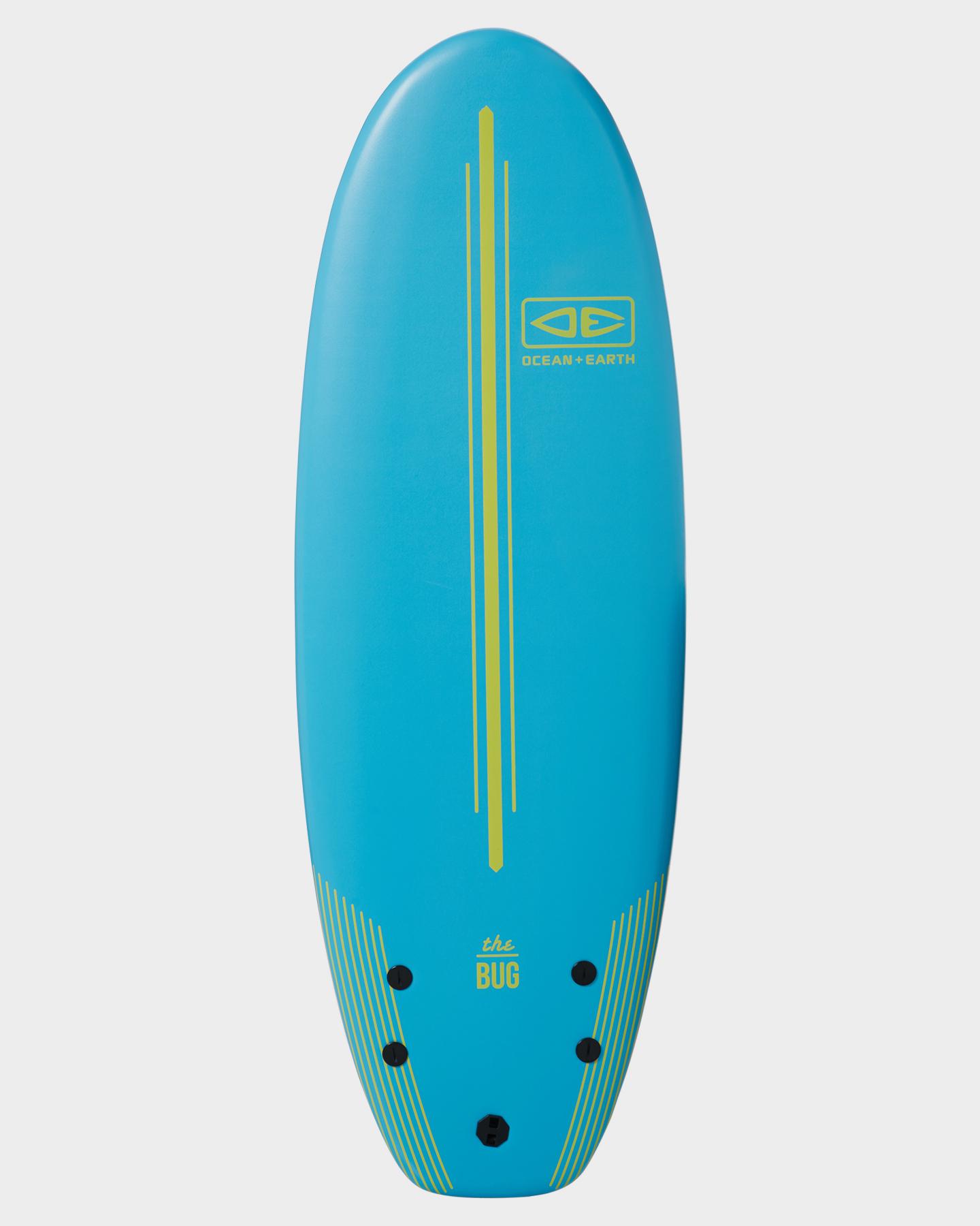 Ocean And Earth 4Ft8 Bug Mini Softboard Aztec Blue