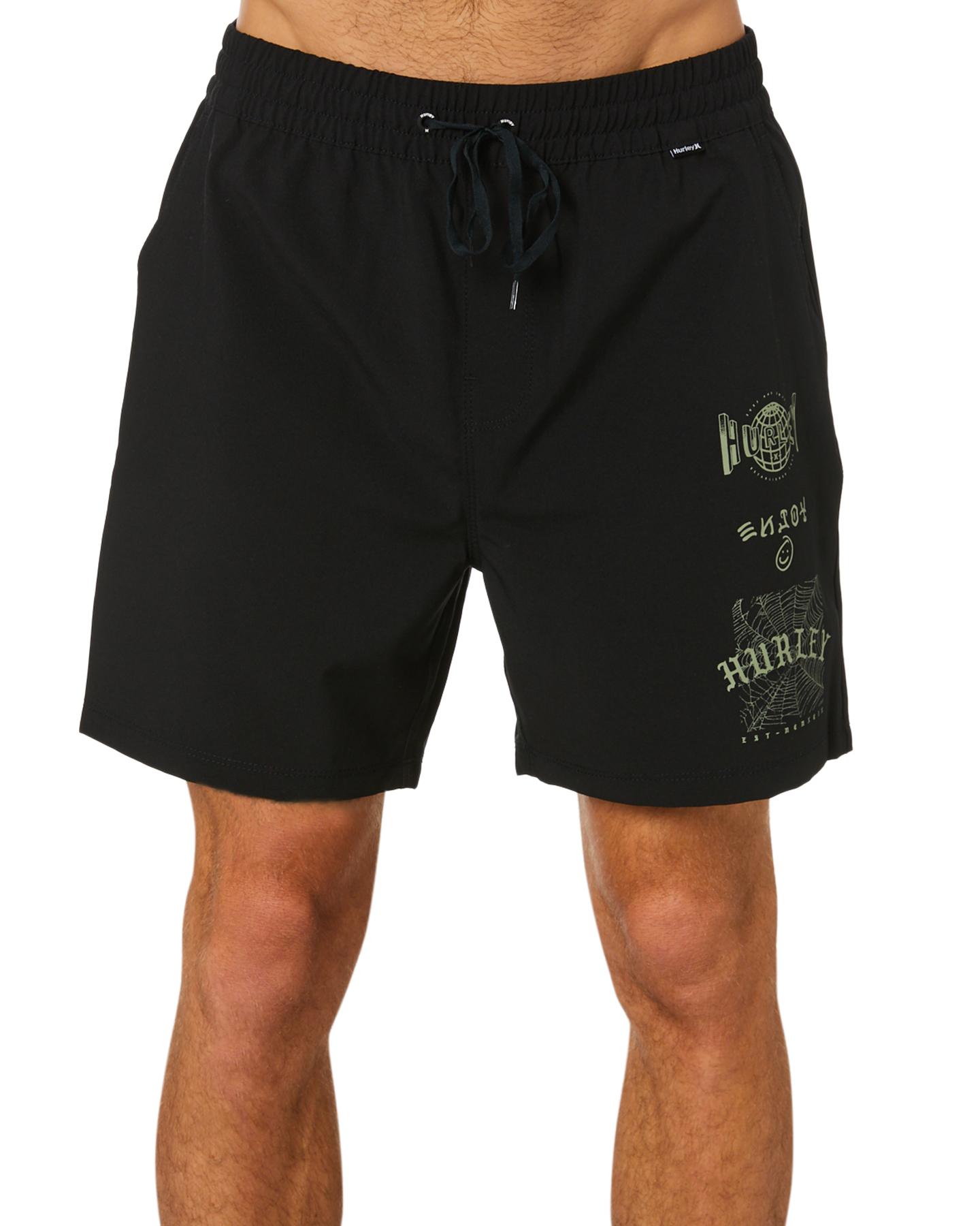 Hurley Freshwater Volley Mens 17In Boardshort Black