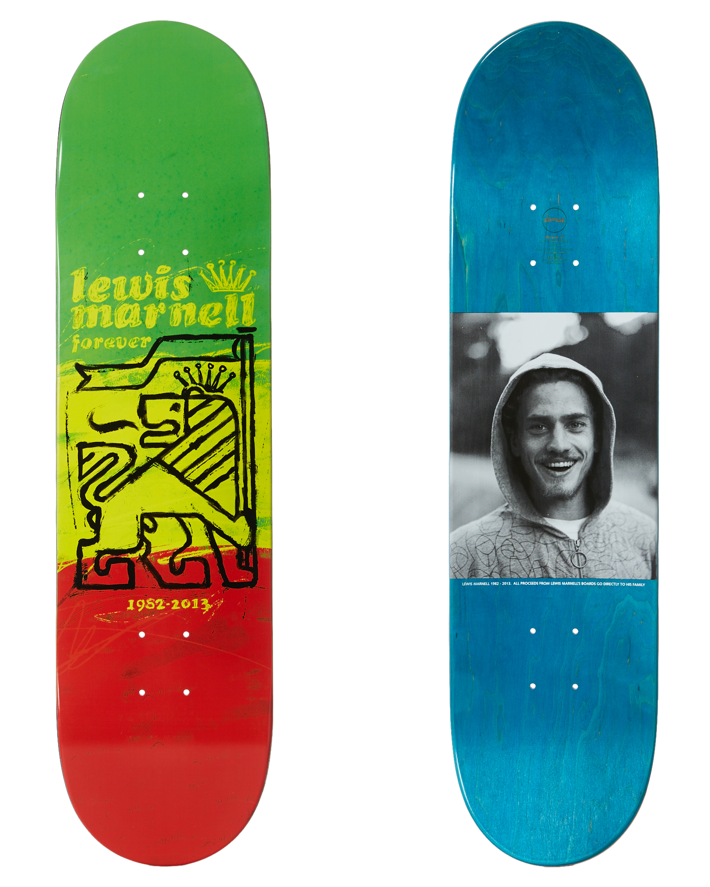 Almost Marnell Painted Lion 8 Inch Deck
