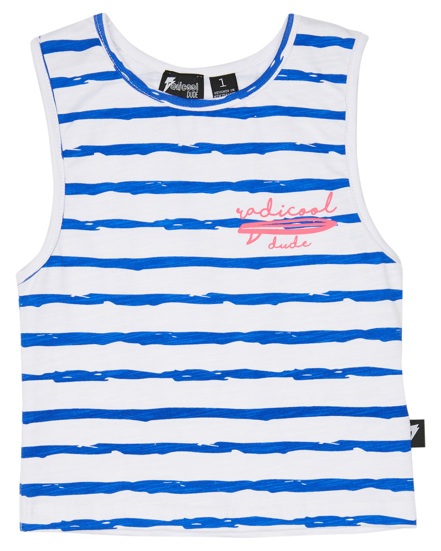 Radicool Dude Boys Triple Board Vest - Kids Cobalt Stripe