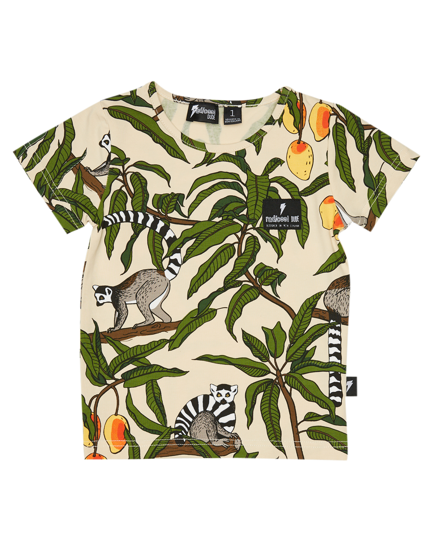 Radicool Dude Boys Jungle Lemur Tee - Kids Jungle Lemur Print