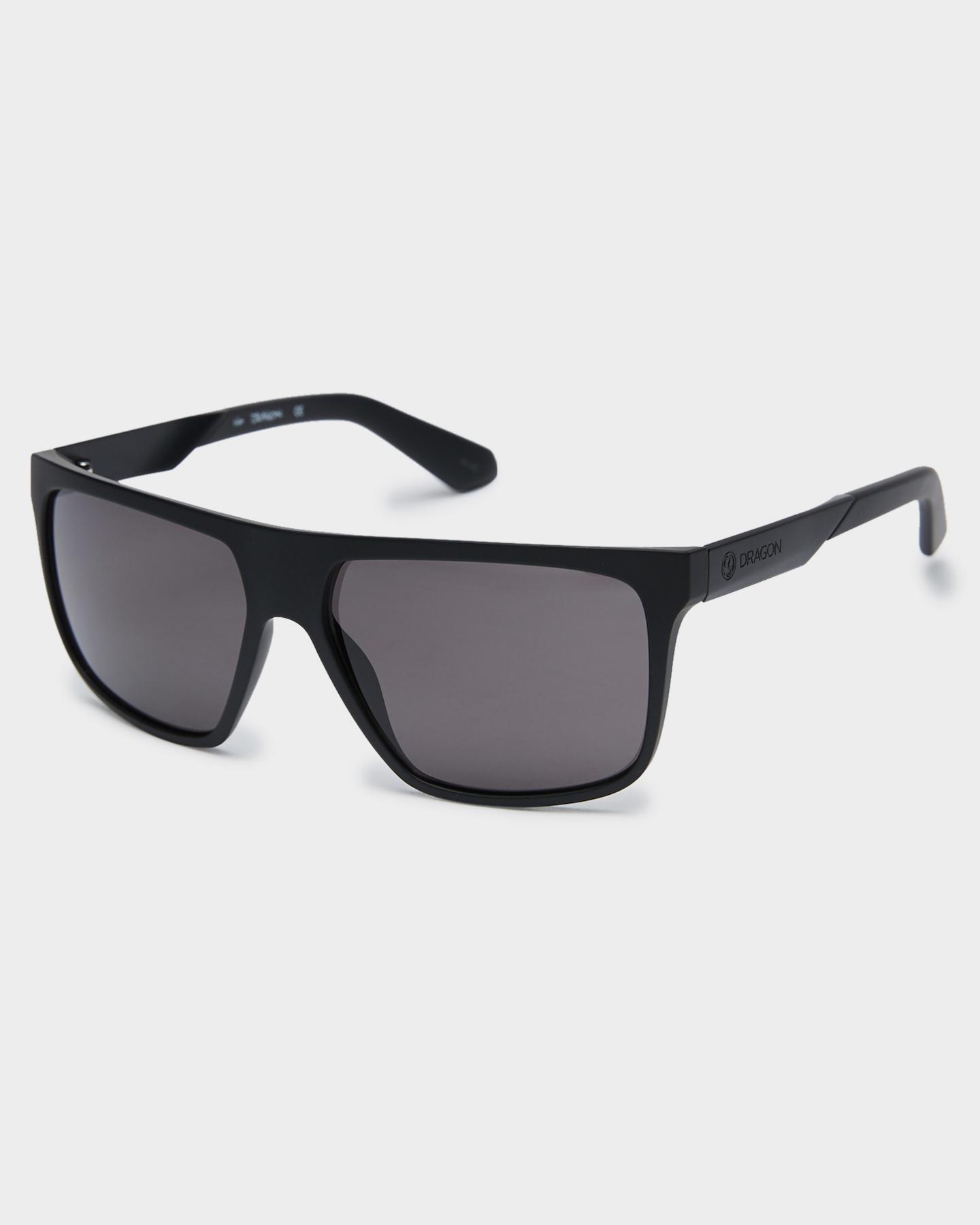 Dragon Vinyl Polarized Sunglasses Matte Black Smoke