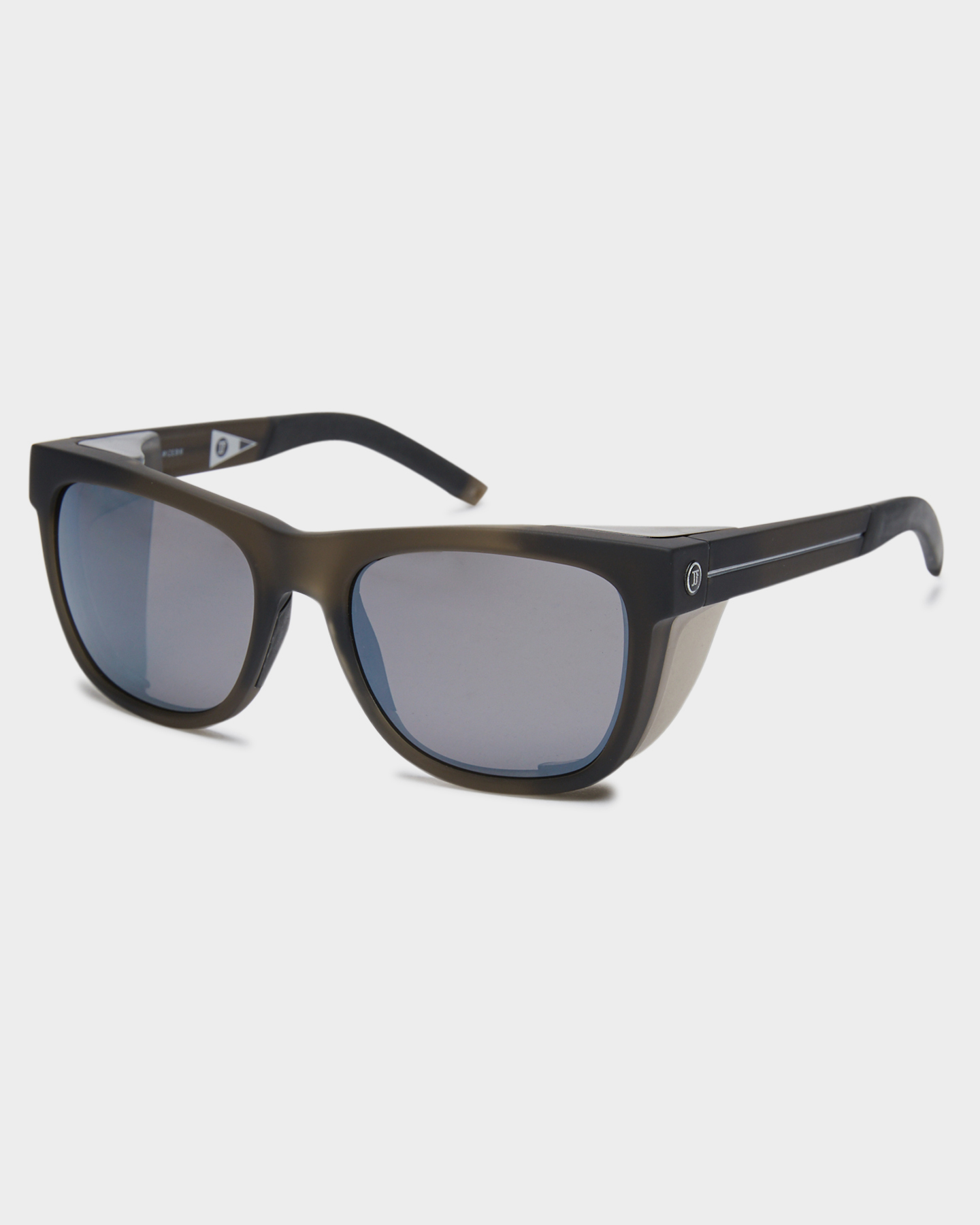 Electric Jjf12 Polarized Sunglasses Dark Smoke Silver