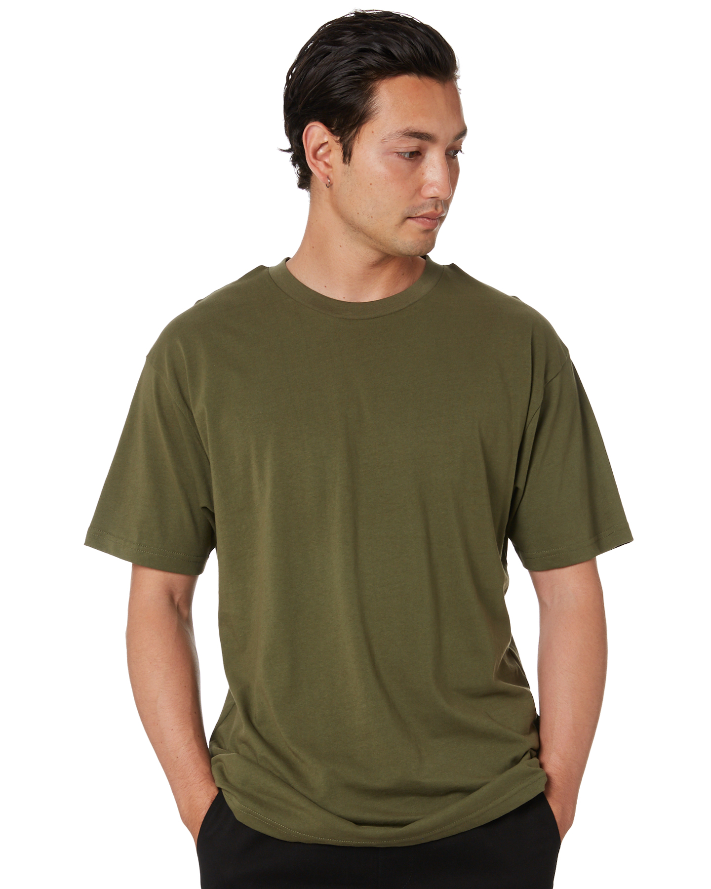 As Colour Block Mens Tee Army Army