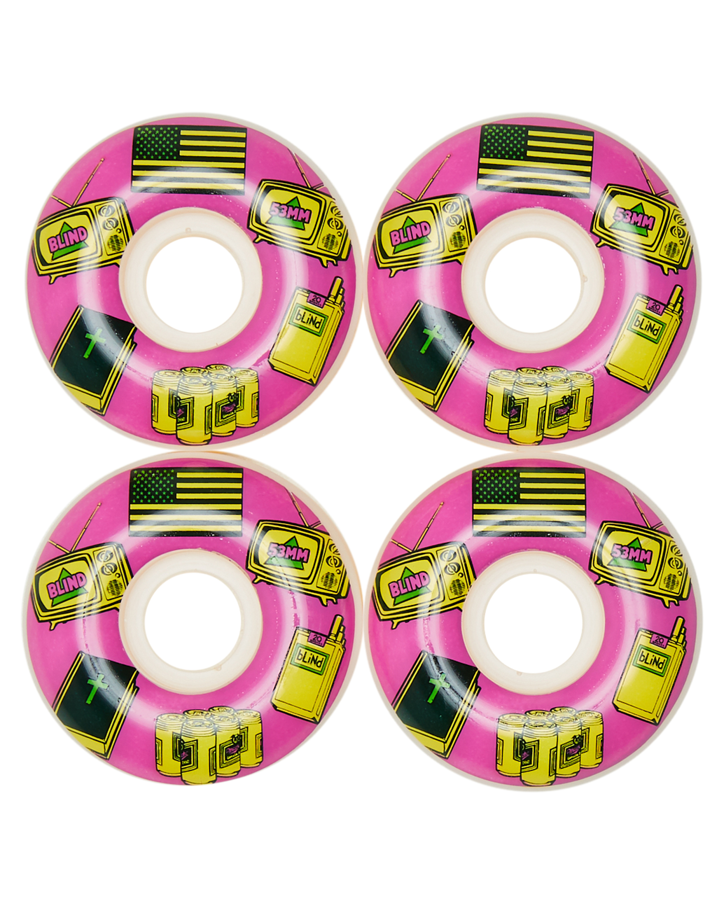 Blind American Icons 53 Mm Wheel Pink
