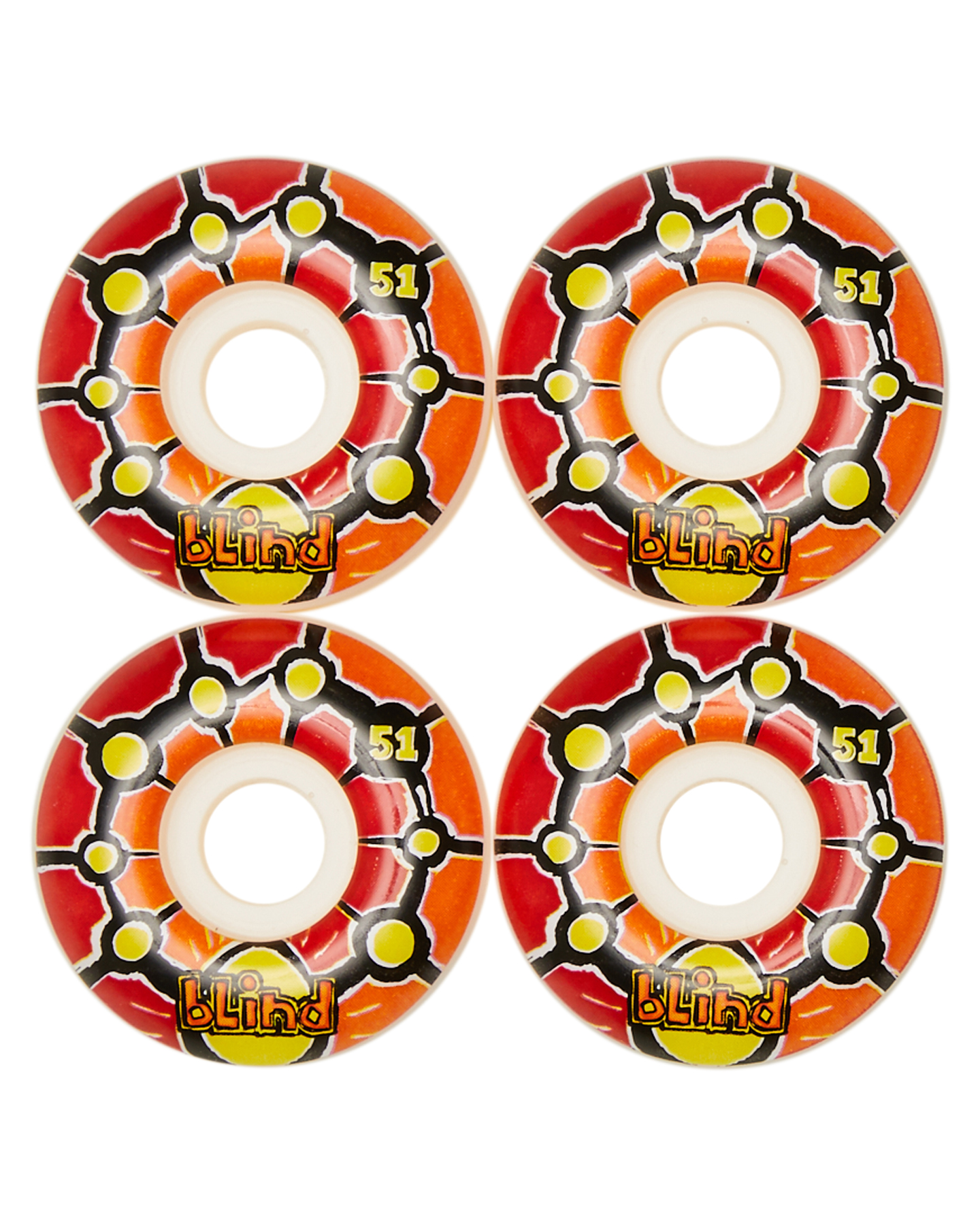 Blind Round Space V 2 53Mm Wheels Red