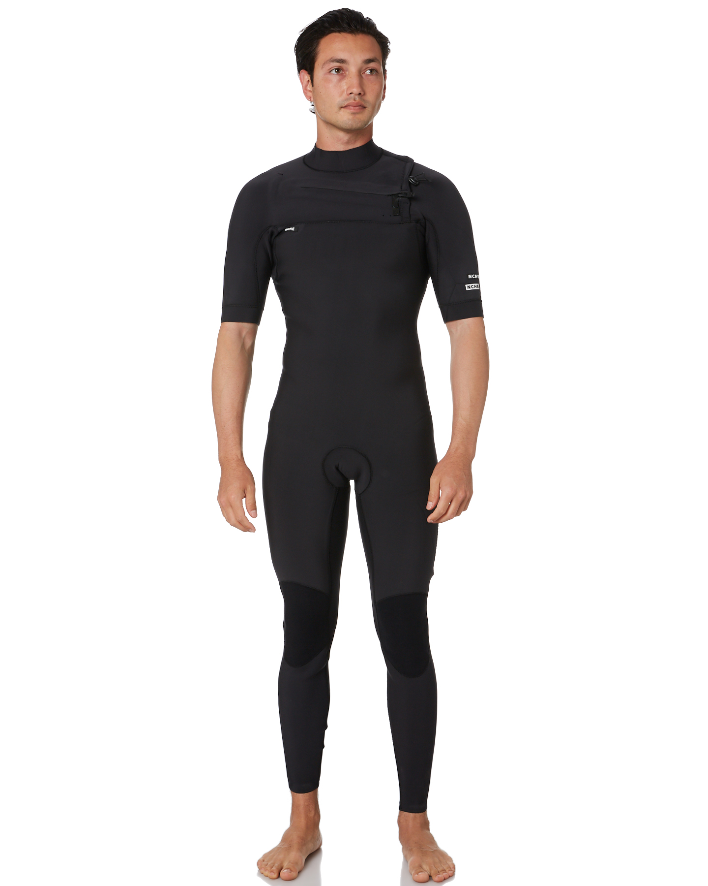 Nche Wetsuits 2X2Mm Chest Zip Ss Steamer Black