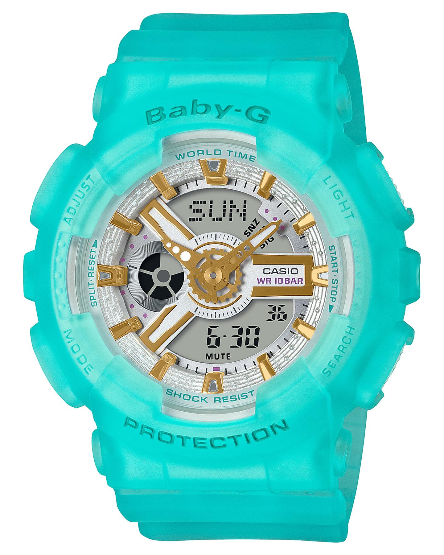 Baby G Ba110 Sea Glass Series Watch Mint Mint