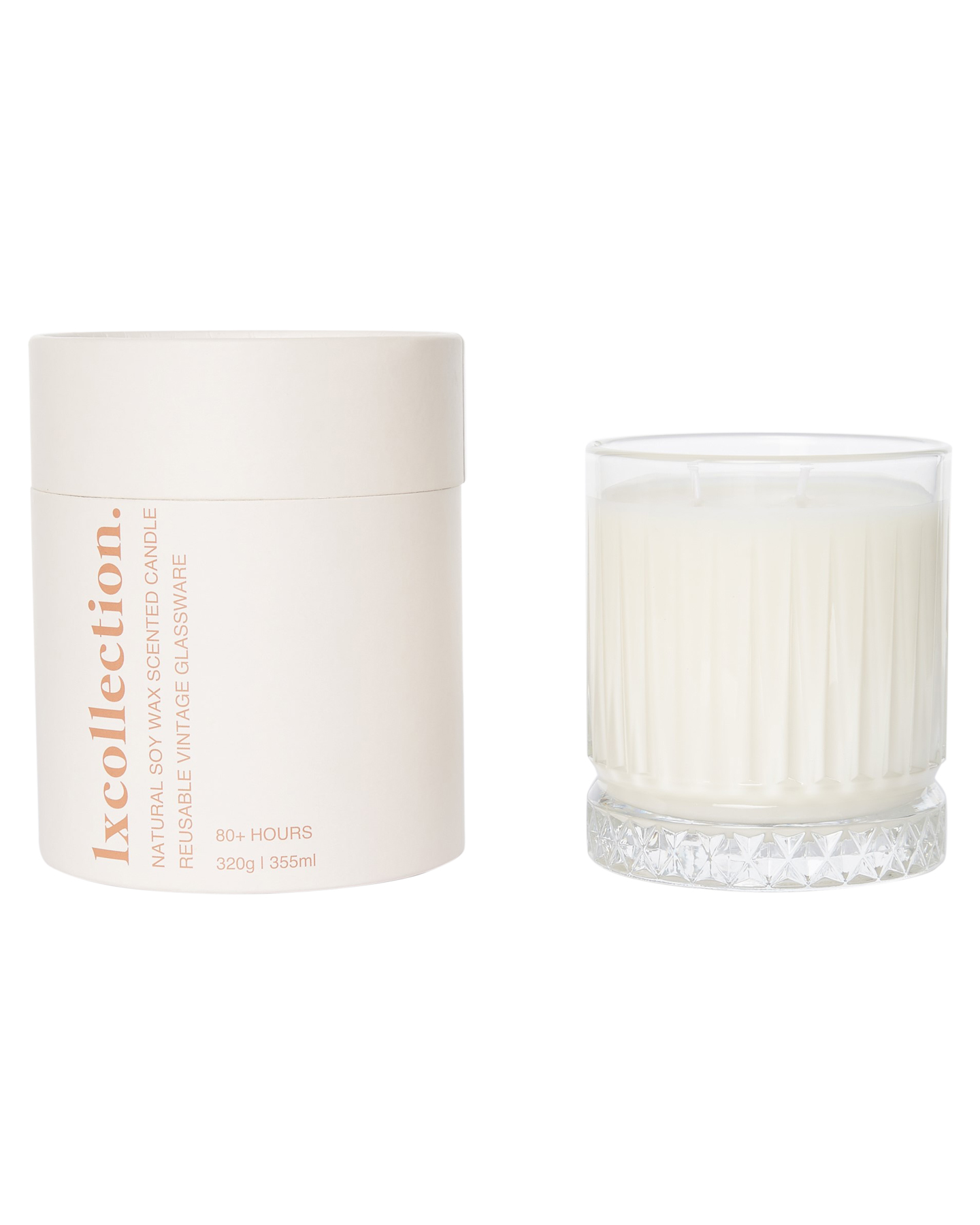 Lx Collection Sea Salt Caramel Vanilla & Hazelnut Candle Natural