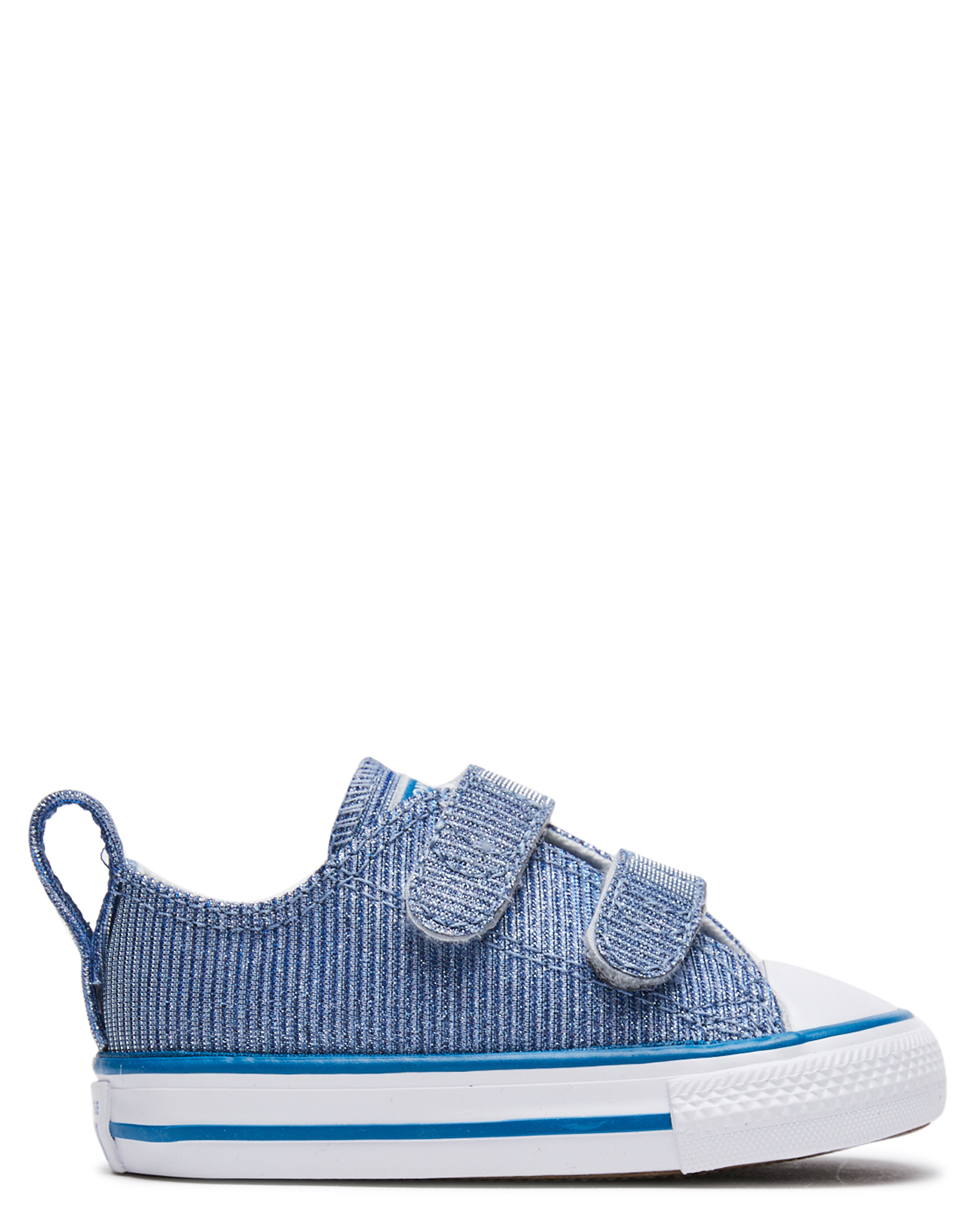 Converse Tots Girls Chuck Taylor All Star 2V Glitter Shoe - Toddlers Ice Blue