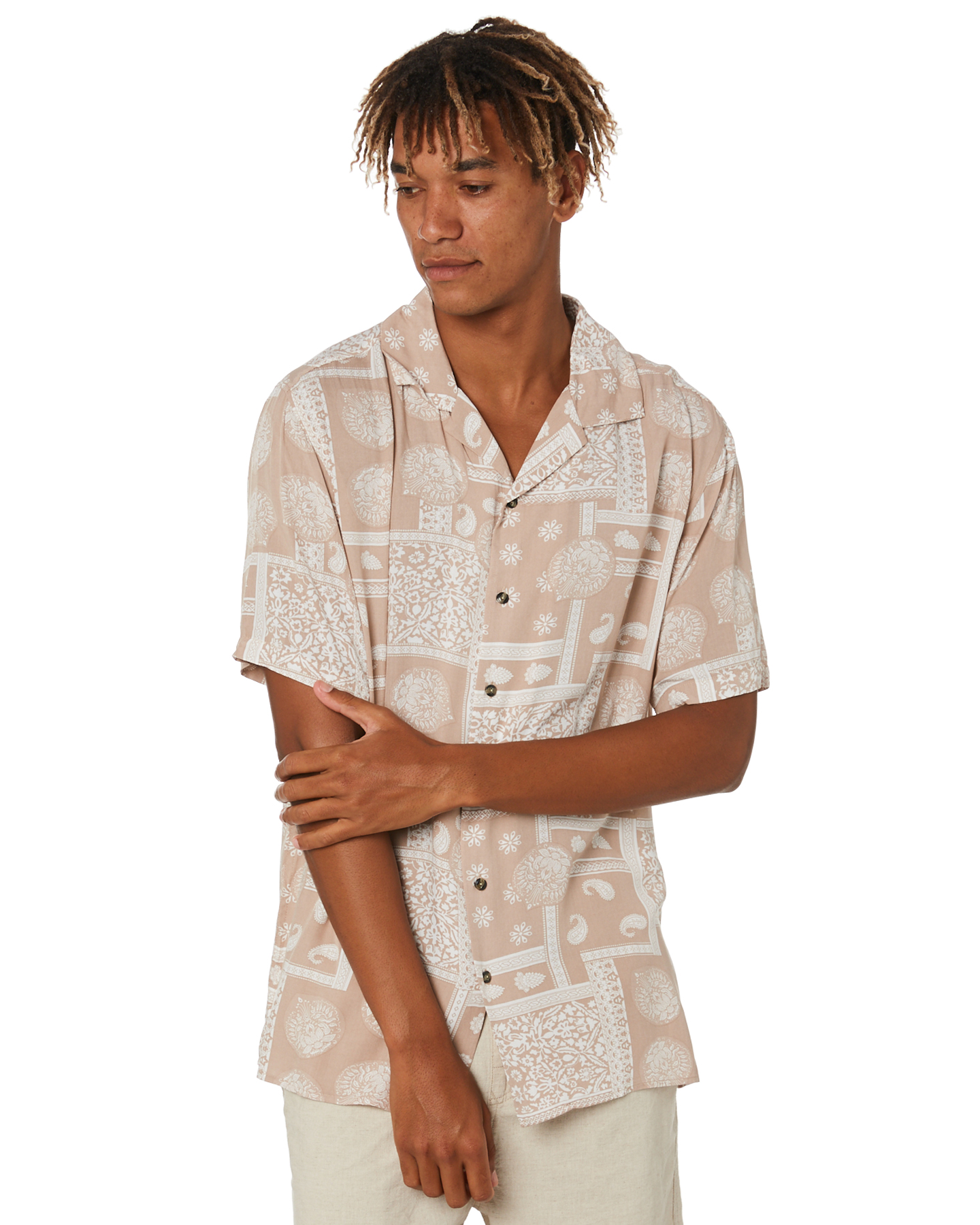 Rusty Dancing Doona Mens Short Sleeve Rayon Shirt Humus Humus