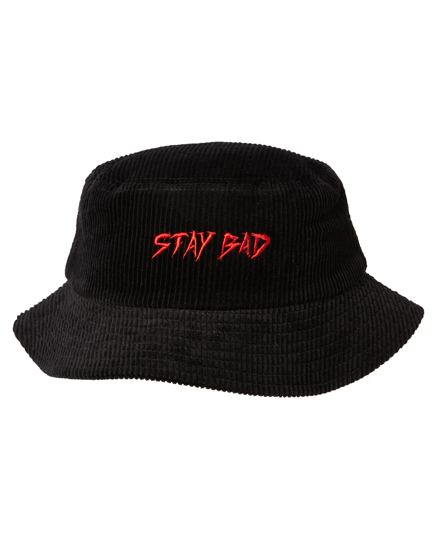 Billy Bones Club Stay Bad Corduroy Bucket Hat Black