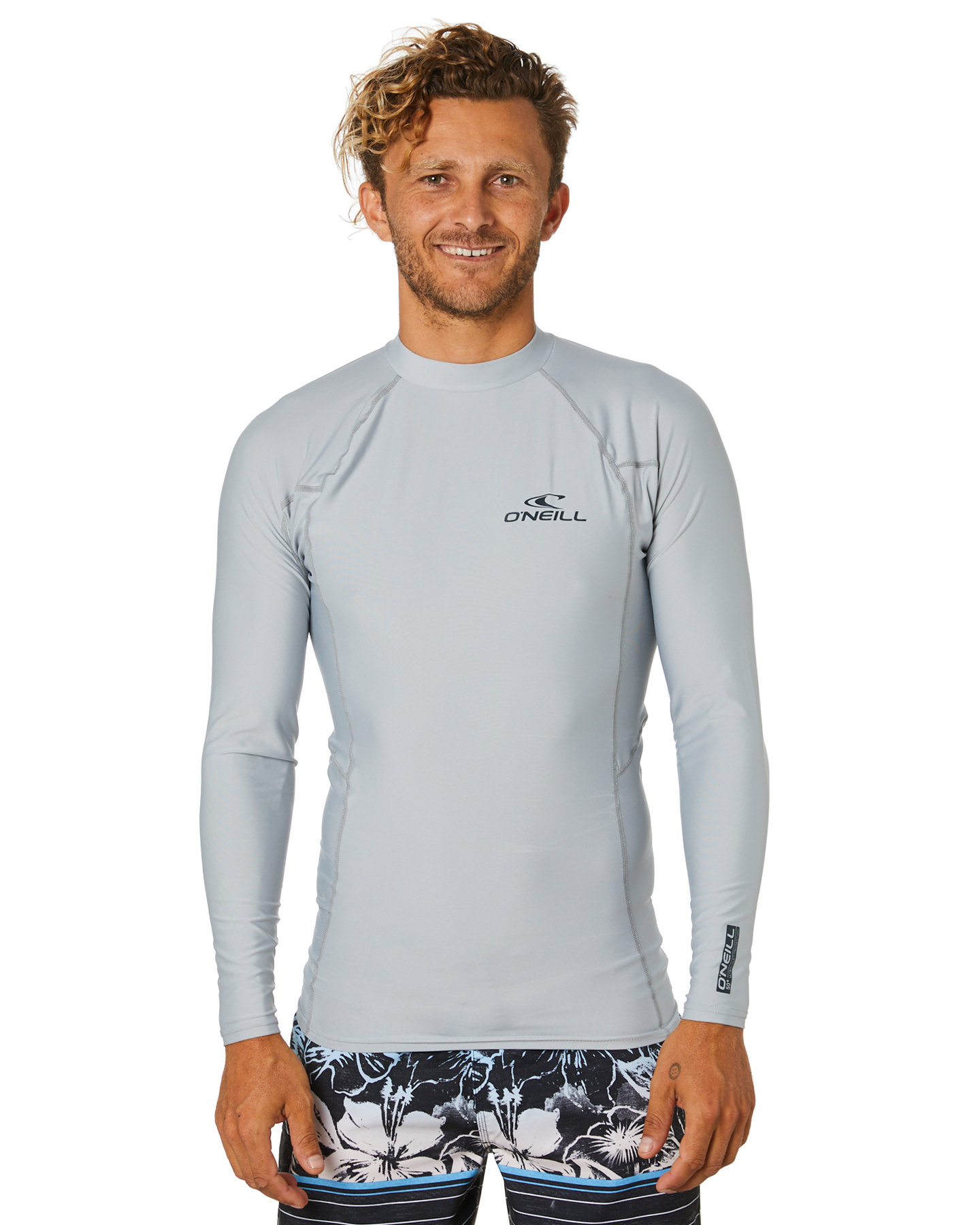 O'Neill Basic Skins Ls Crew Rash Vest Cool Grey