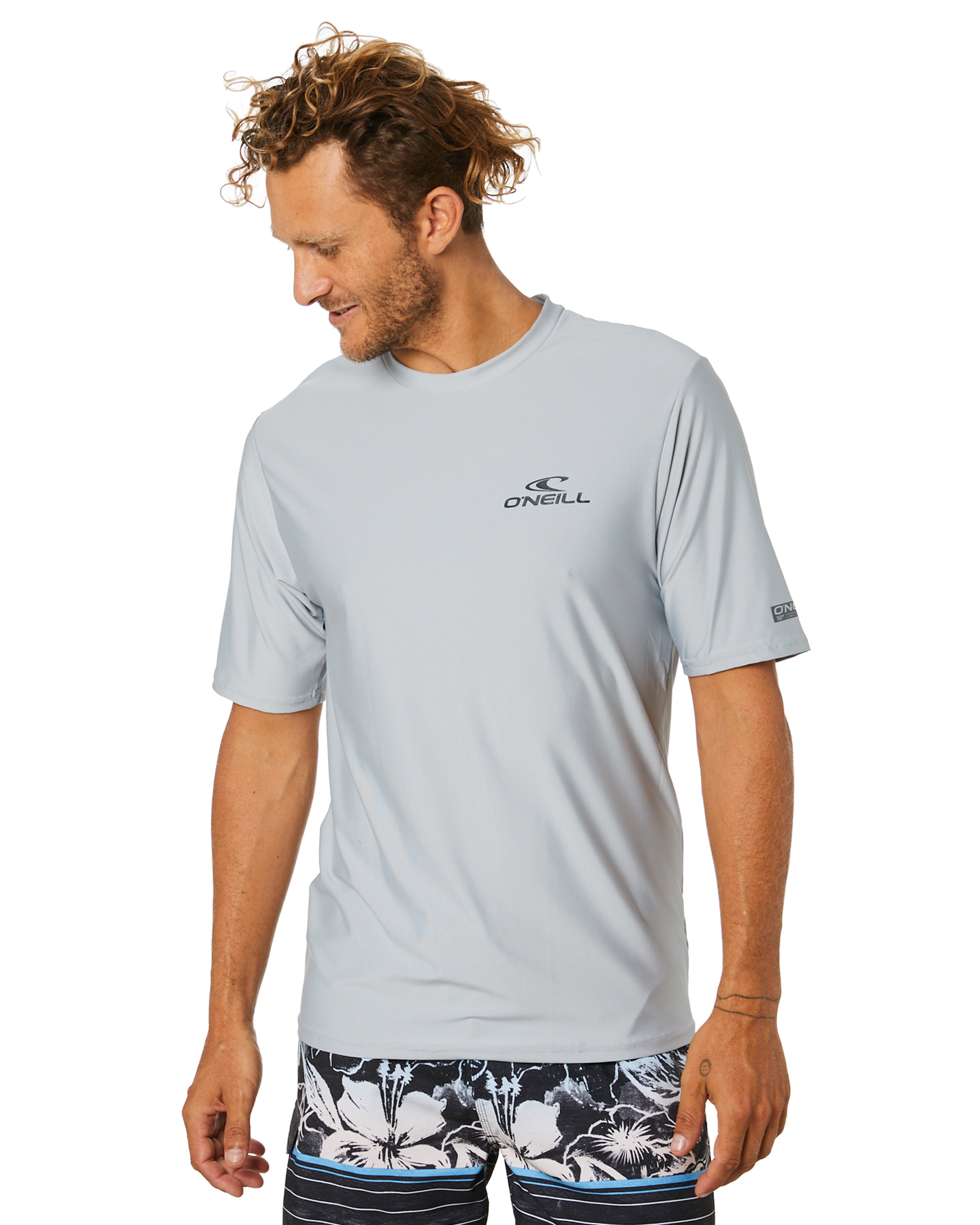 O'Neill Basic Skins Ss Crew Rash Tee Cool Grey