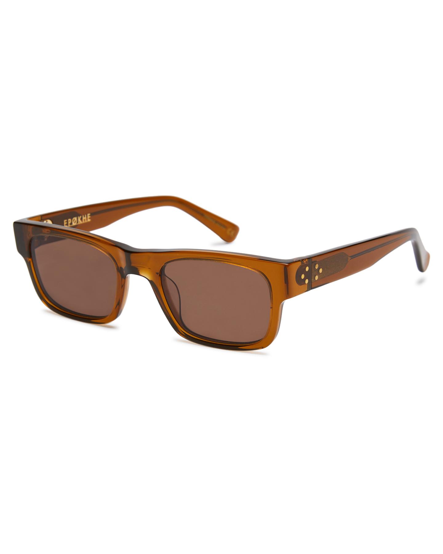 Epokhe Uzi Sunglasses Tobacco Polish Brnz Tobacco Polish Brnz