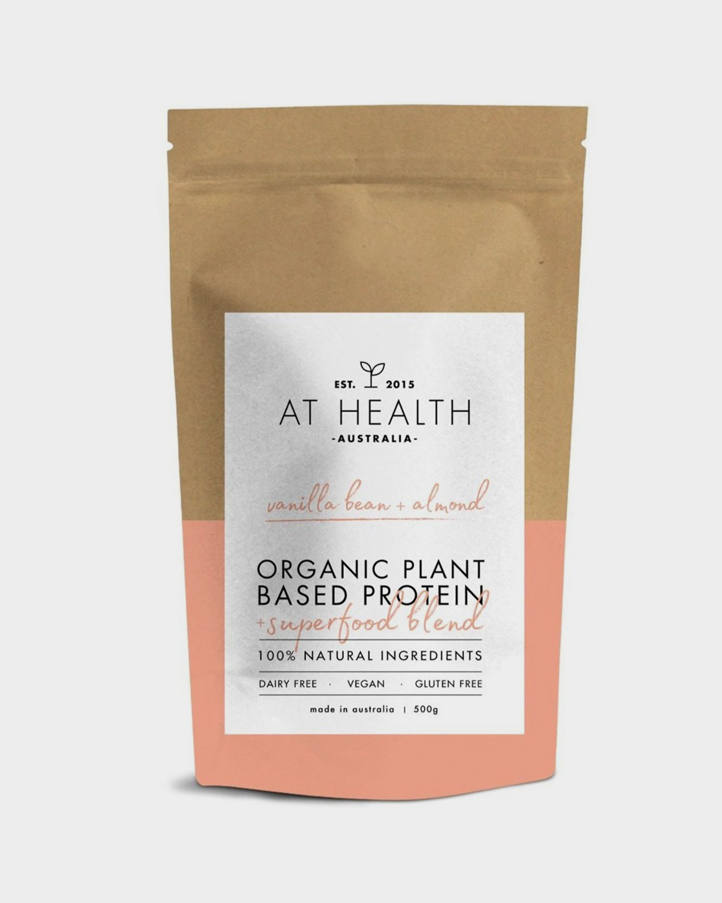 At Health Organic Plant Based Protein + Superfood Blend (Vegan) Almond Almond