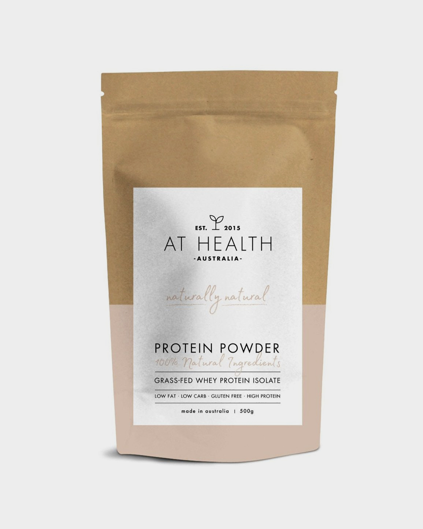 At Health Naturally Natural Grass-Fed Whey Protein Isolate Natural