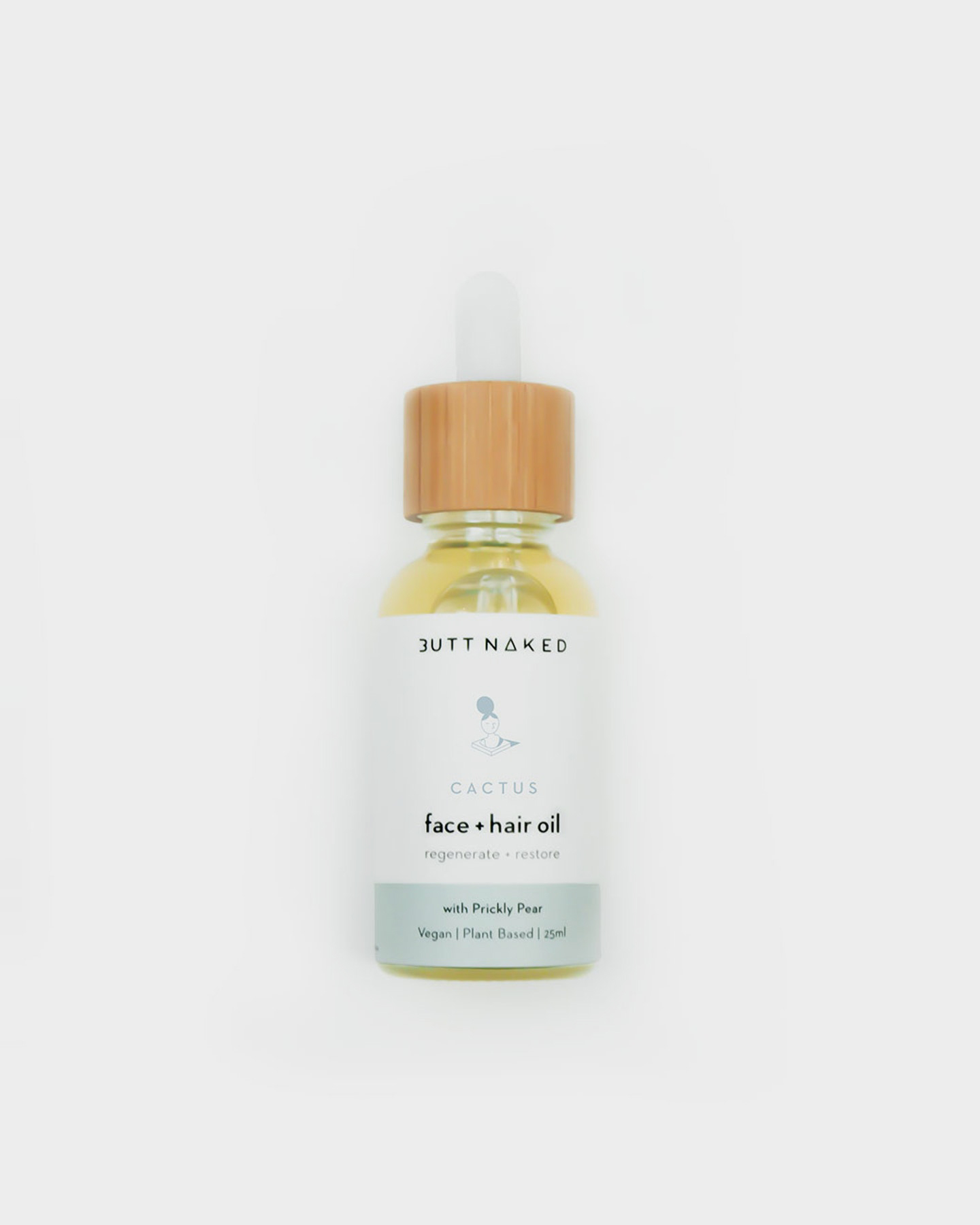 Butt Naked Body Prickly Pear Hydrating Face + Hair Oil Natural Natural