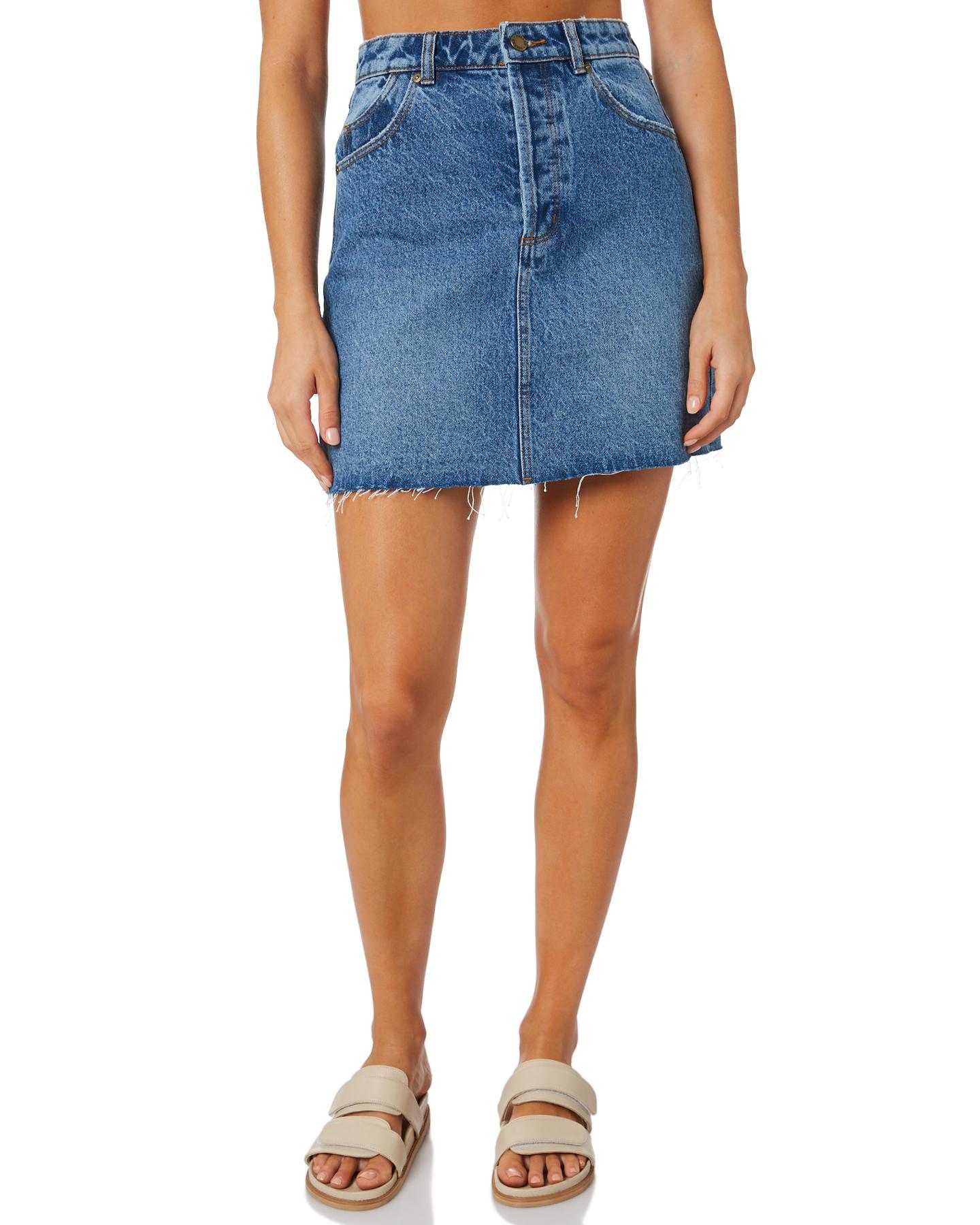 Rollas Classic Mini Skirt Paris Blue