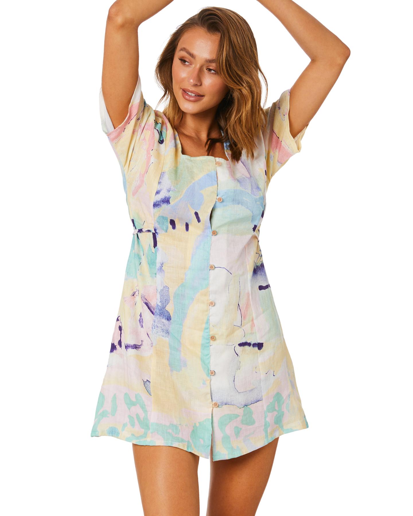 Misfit Jungle Soup Linen Dress