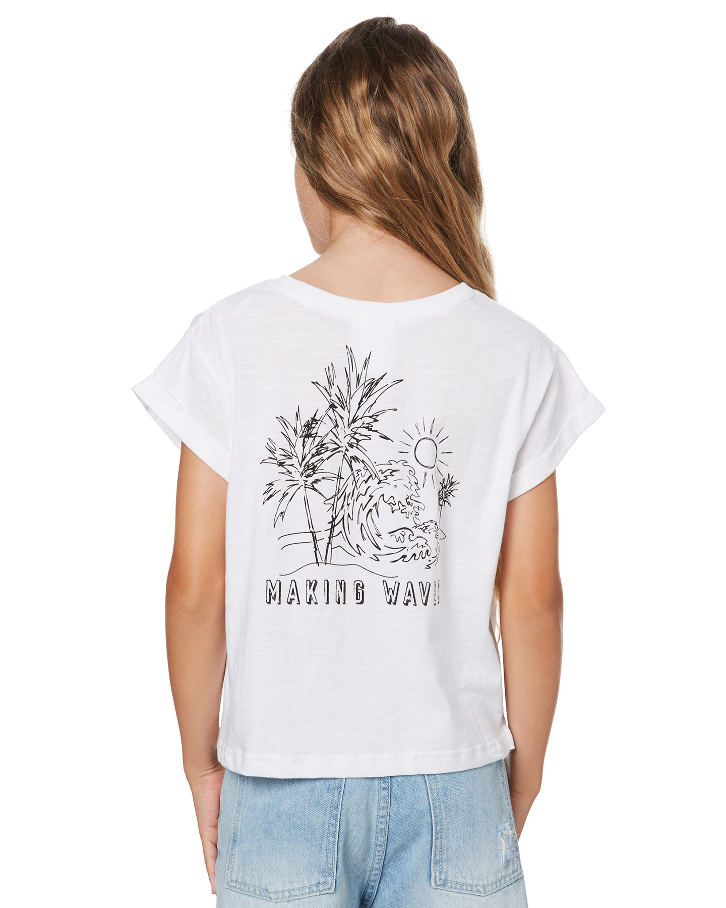 Eves Sister Girls Sunny Days Tee - Teens White