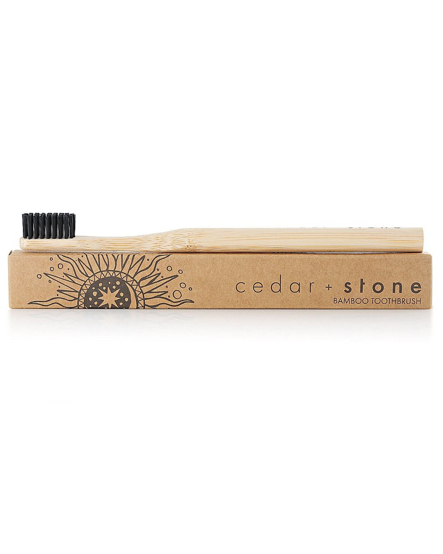 Cedar And Stone Bamboo Charcoal Toothbrush Natural